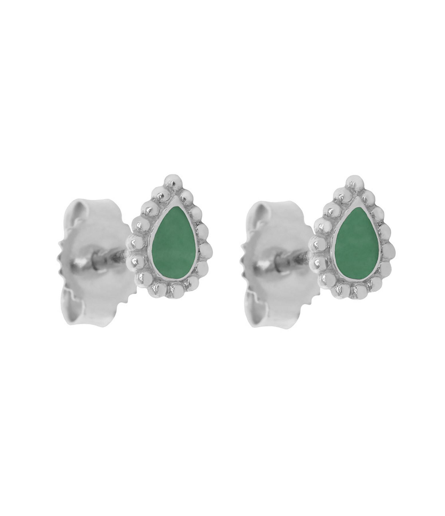 GIGI CLOZEAU - Boucles d'oreilles Lucky Cachemire Email OG