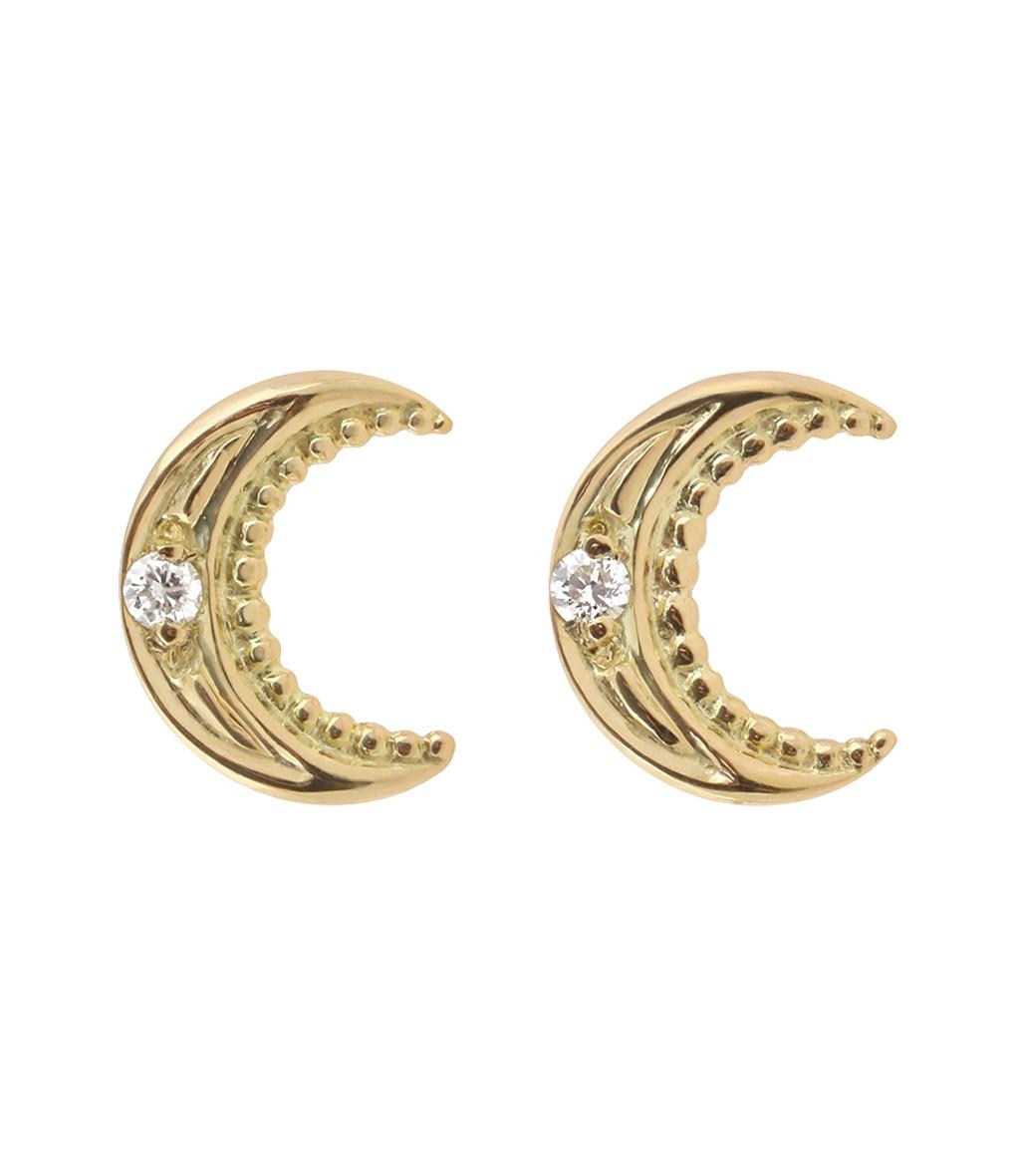 GIGI CLOZEAU - Boucles d'oreilles Lune Diamants