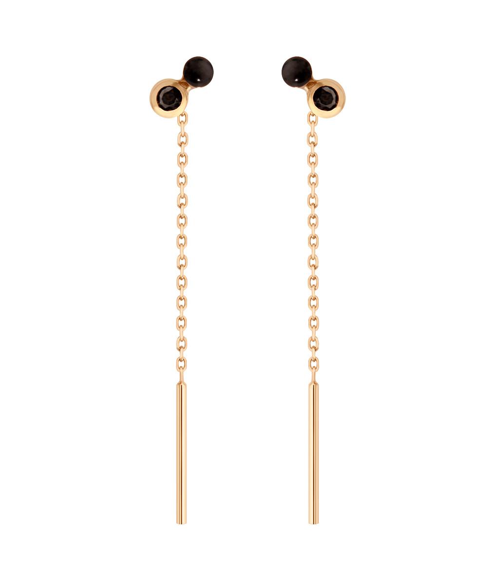 Boucles d'oreilles Pendantes Double Puce Résine - CLOZEAU
