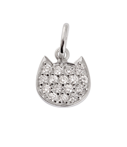 GIGI CLOZEAU - Pendentif Voyage Chat Diamants