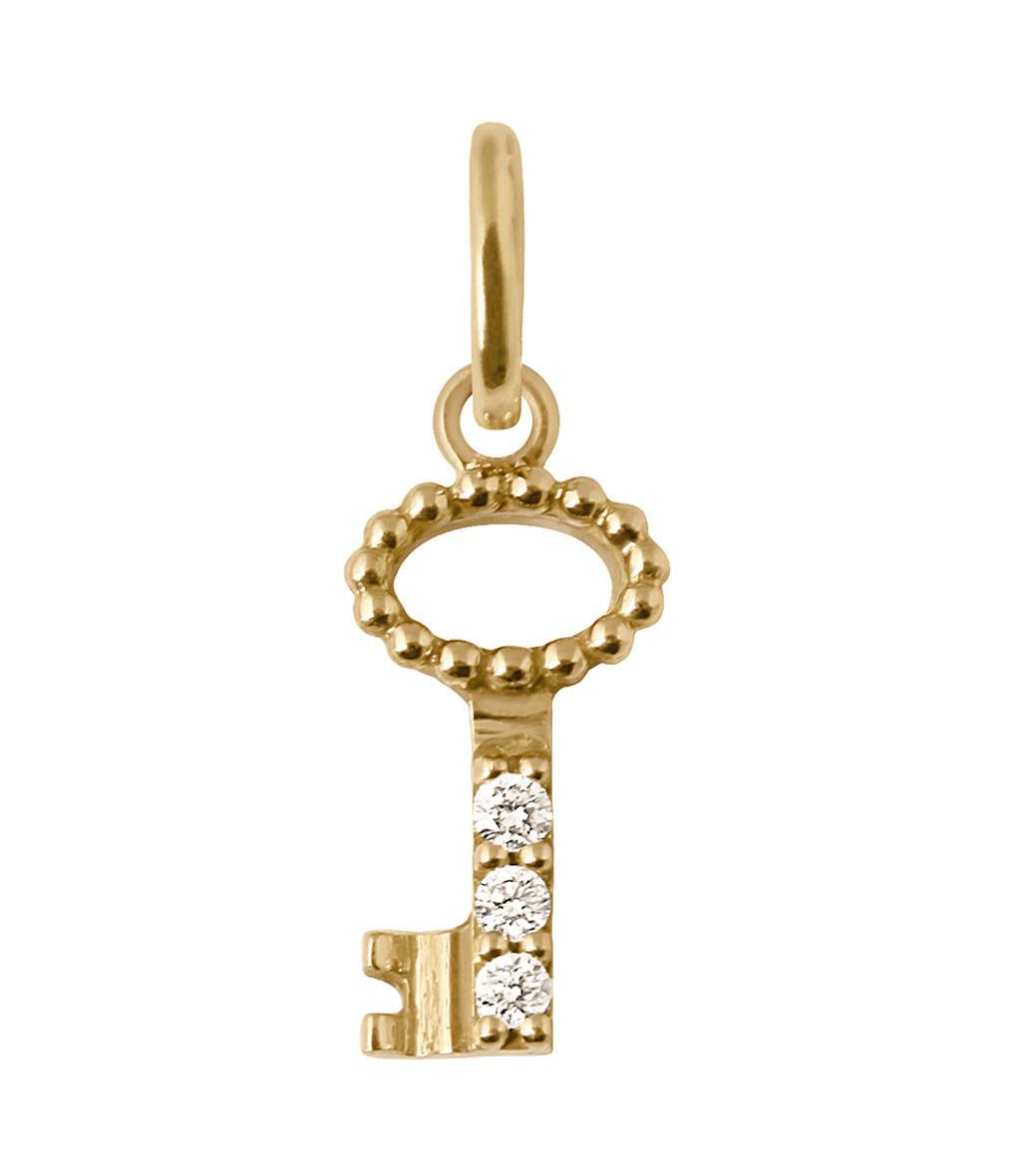 Pendentif Charm Clé Diamants - GIGI CLOZEAU