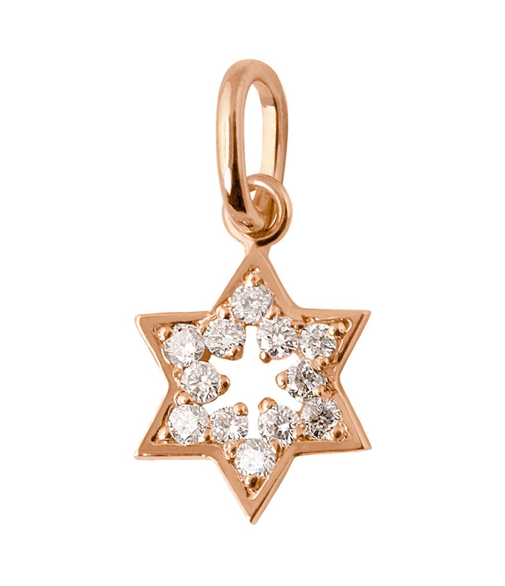 Pendentif Charm Etoile de David Diamants - GIGI CLOZEAU