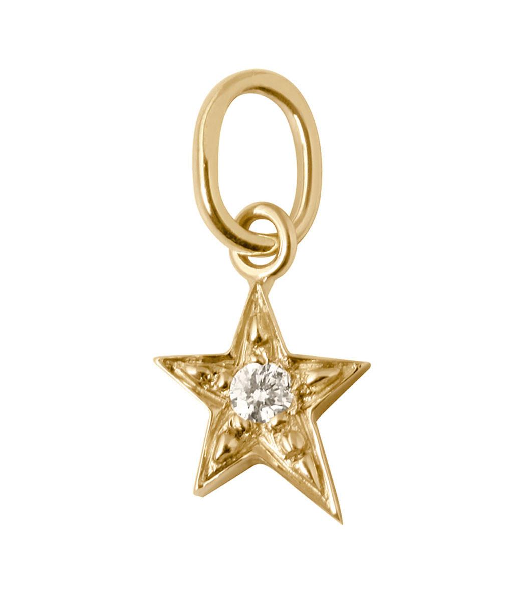 Pendentif Charm Etoile Diamants - GIGI CLOZEAU