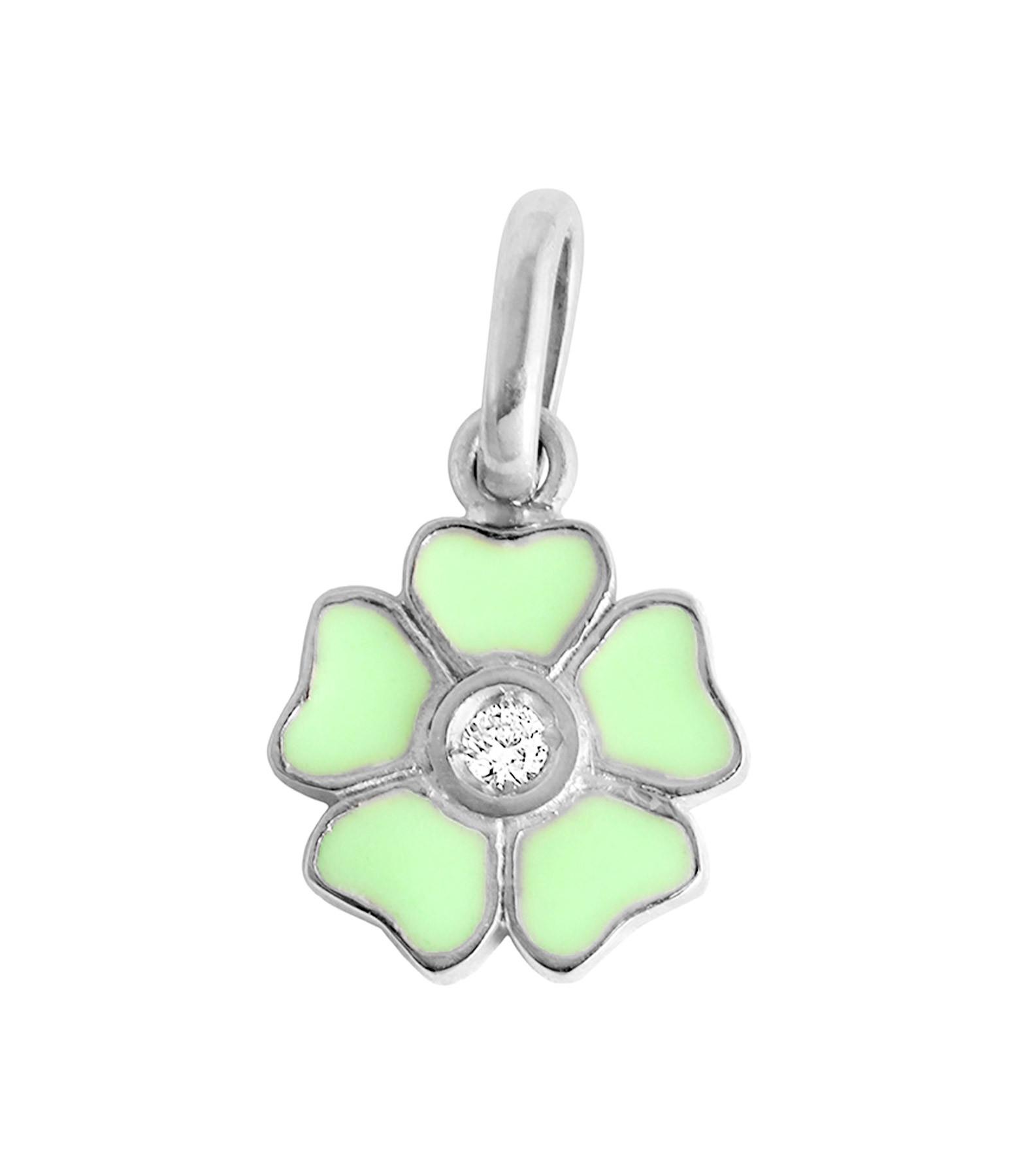 GIGI CLOZEAU - Pendentif Résine Fleur Diamant Or gris