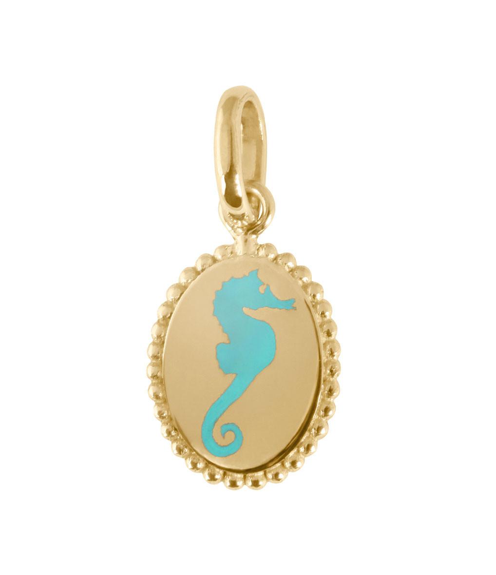 GIGI CLOZEAU - Pendentif Médaille Résine Hippocampe