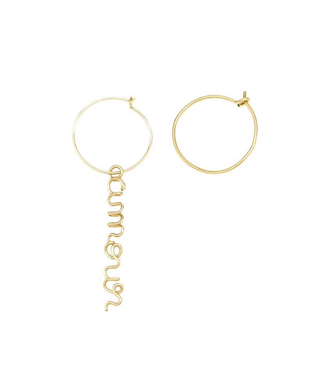 ATELIER PAULIN - Créoles PM Amour Gold Filled 14K