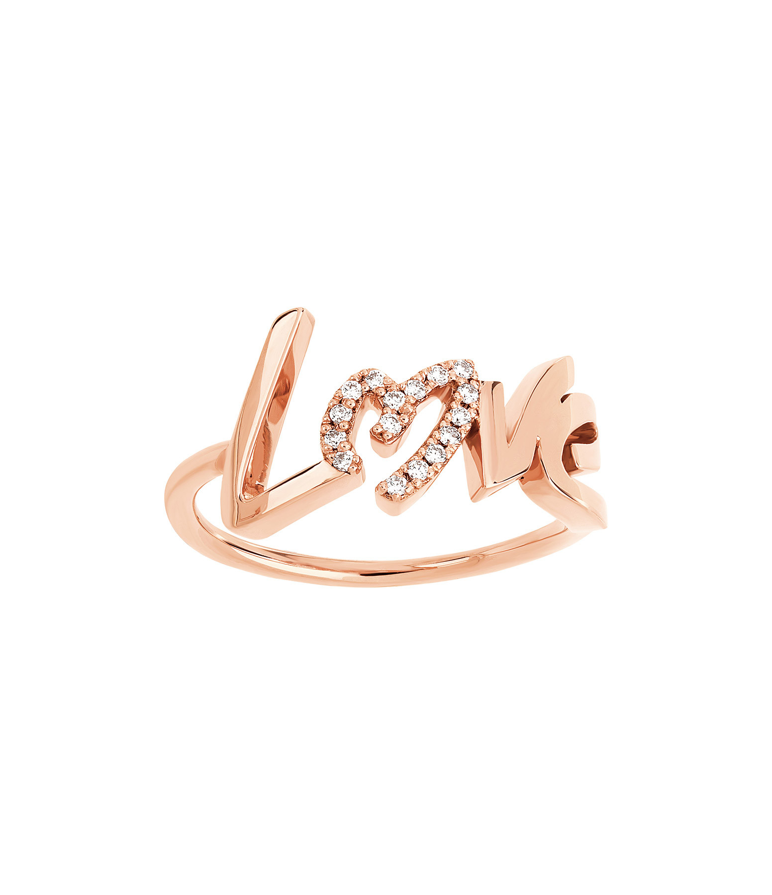 NAVA JOAILLERIE - Bague Love Diamant Or Rose