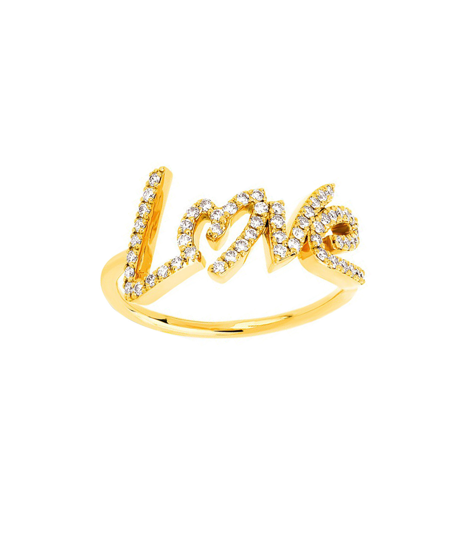 NAVA JOAILLERIE - Bague Love Diamants Or Jaune