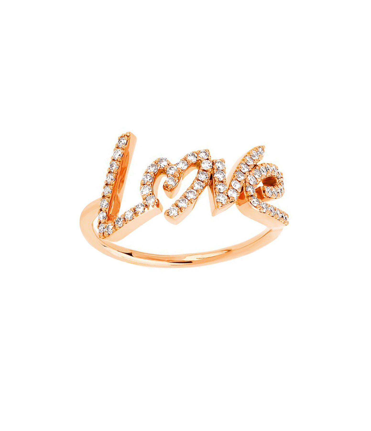 NAVA JOAILLERIE - Bague Love Diamants Or Rose