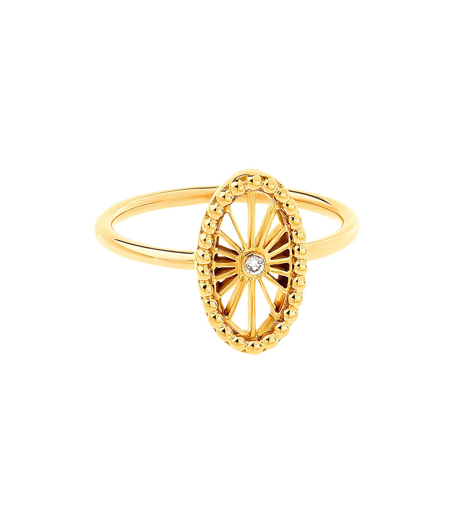 NAVA JOAILLERIE - Bague Mini-Cheyenne Ovale Diamants Or Jaune