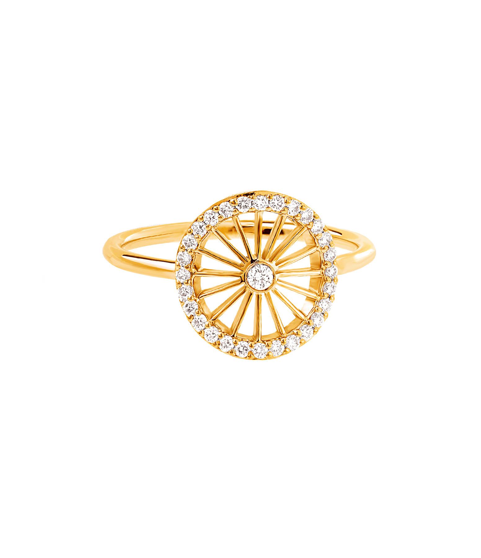 NAVA JOAILLERIE - Bague Cheyenne Ronde Diamants Or Jaune