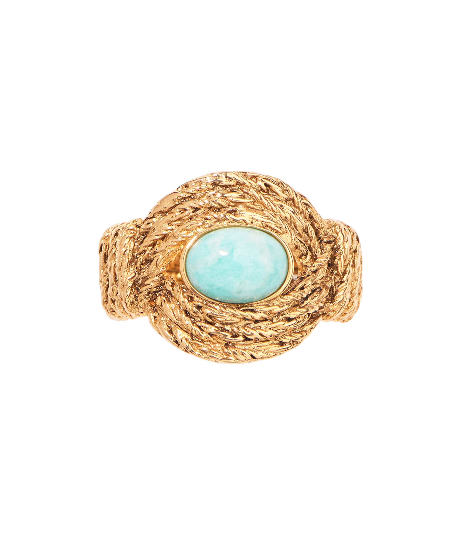 AURELIE BIDERMANN - Bague Mizuhiki Amazonite