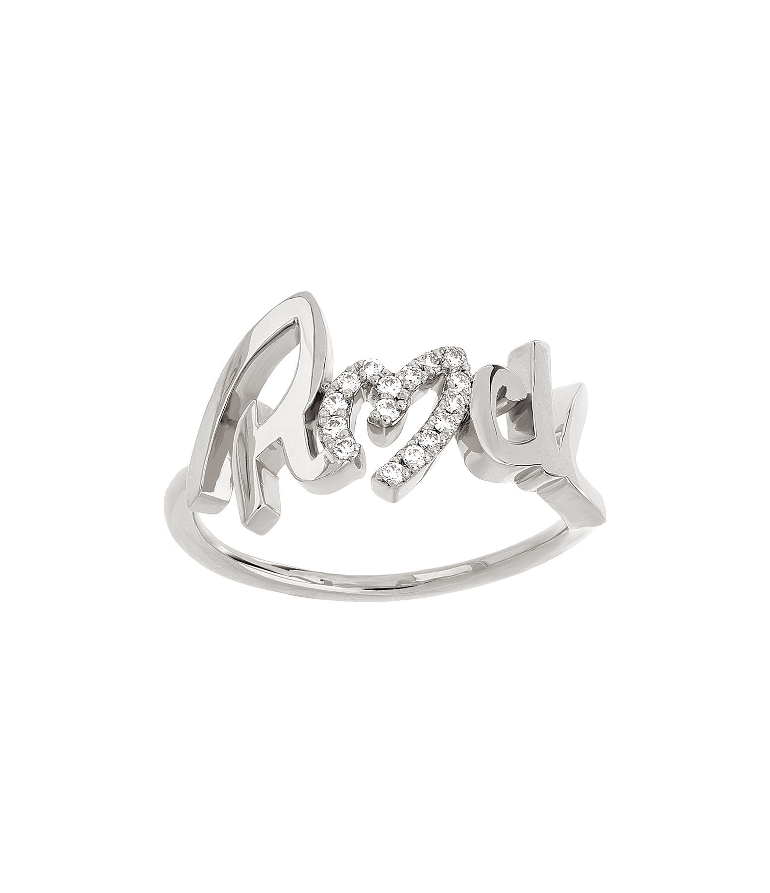 NAVA JOAILLERIE - Bague Rock Diamant Or Blanc