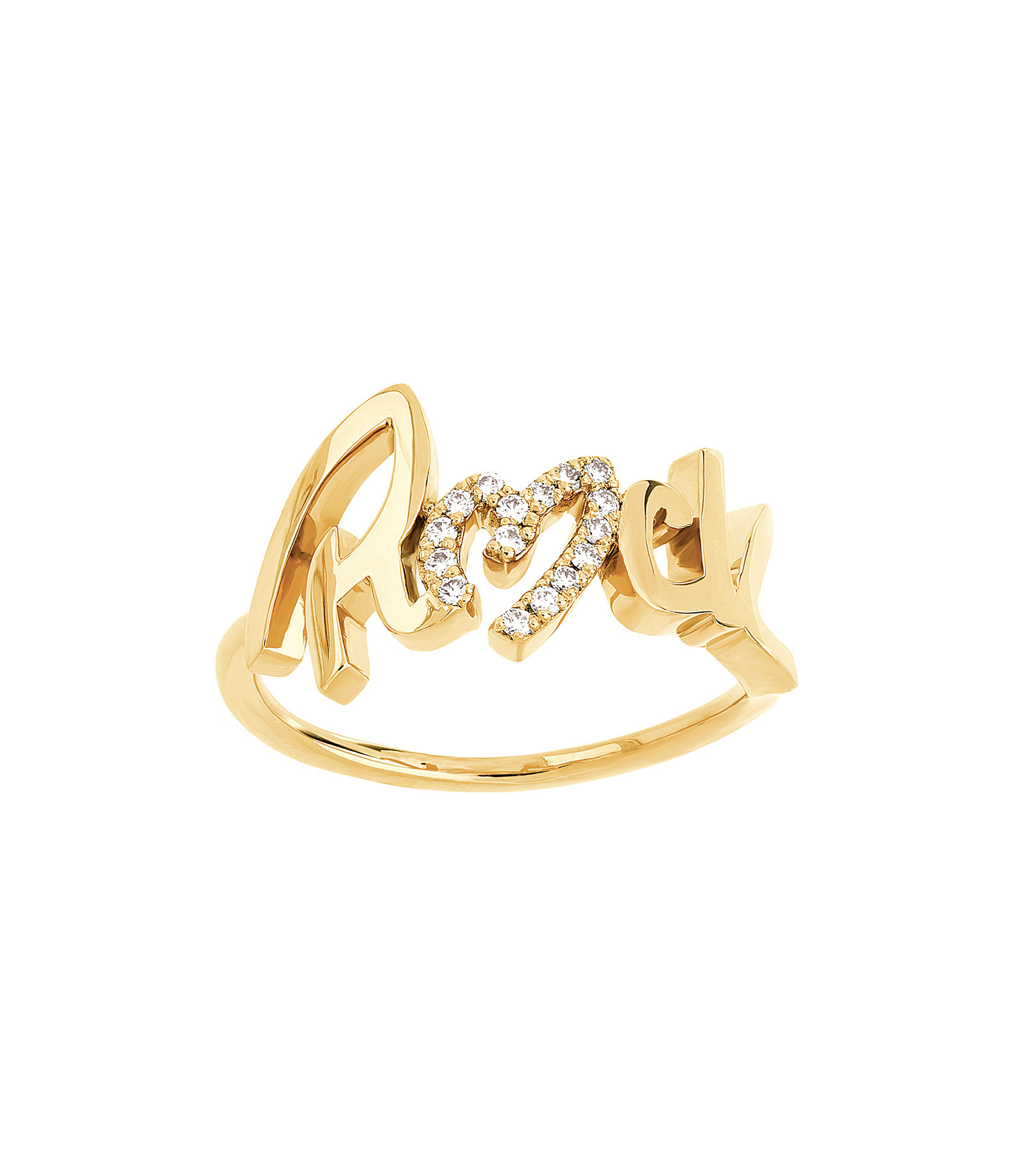 NAVA JOAILLERIE - Bague Rock Diamant Or Jaune
