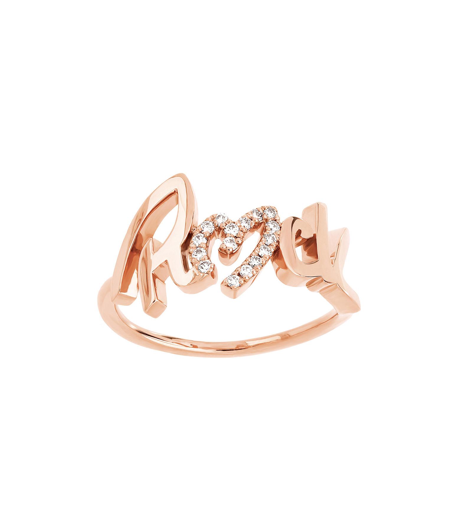 NAVA JOAILLERIE - Bague Rock Diamant Or Rose