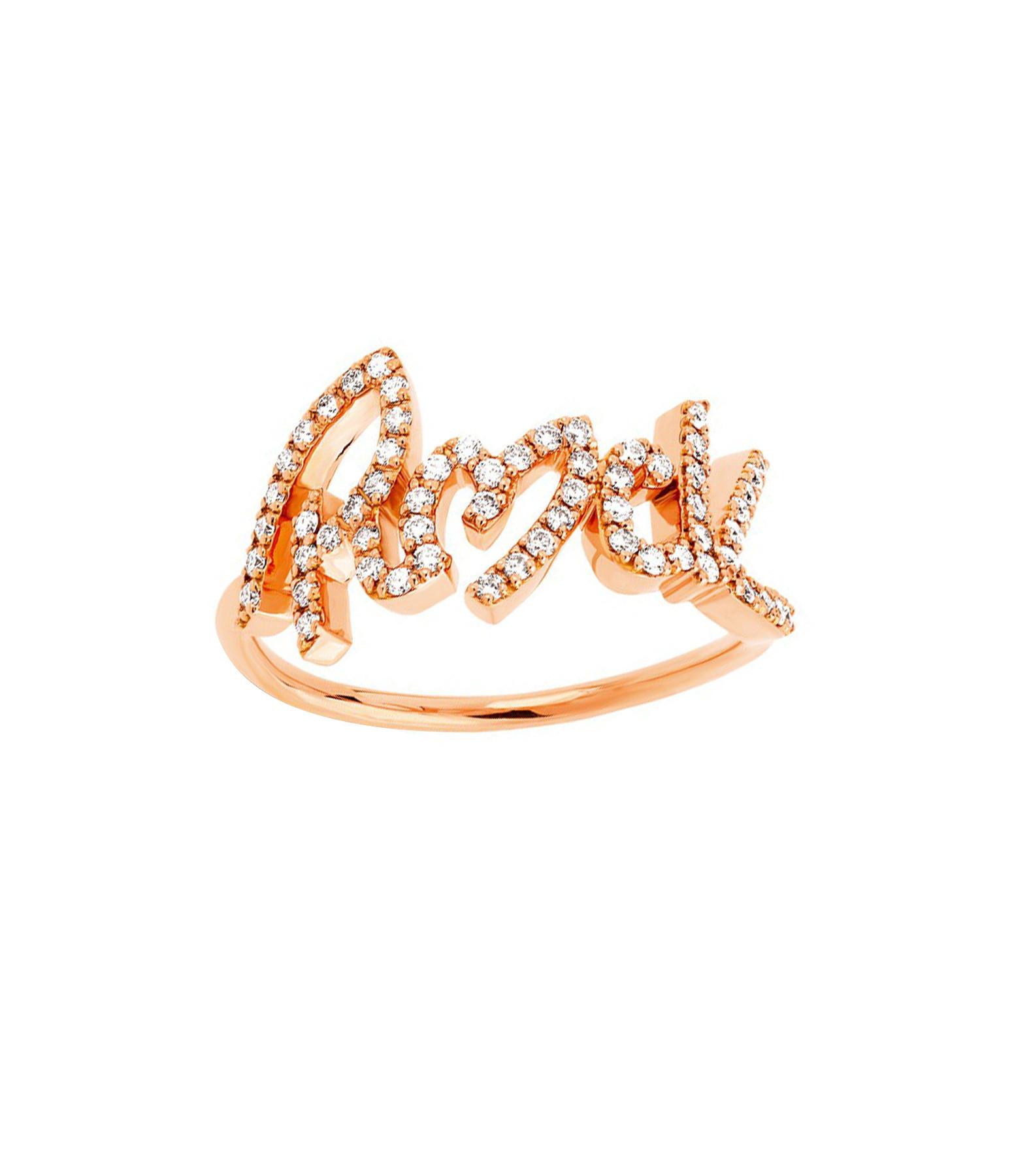 NAVA JOAILLERIE - Bague Rock Diamants Or Rose