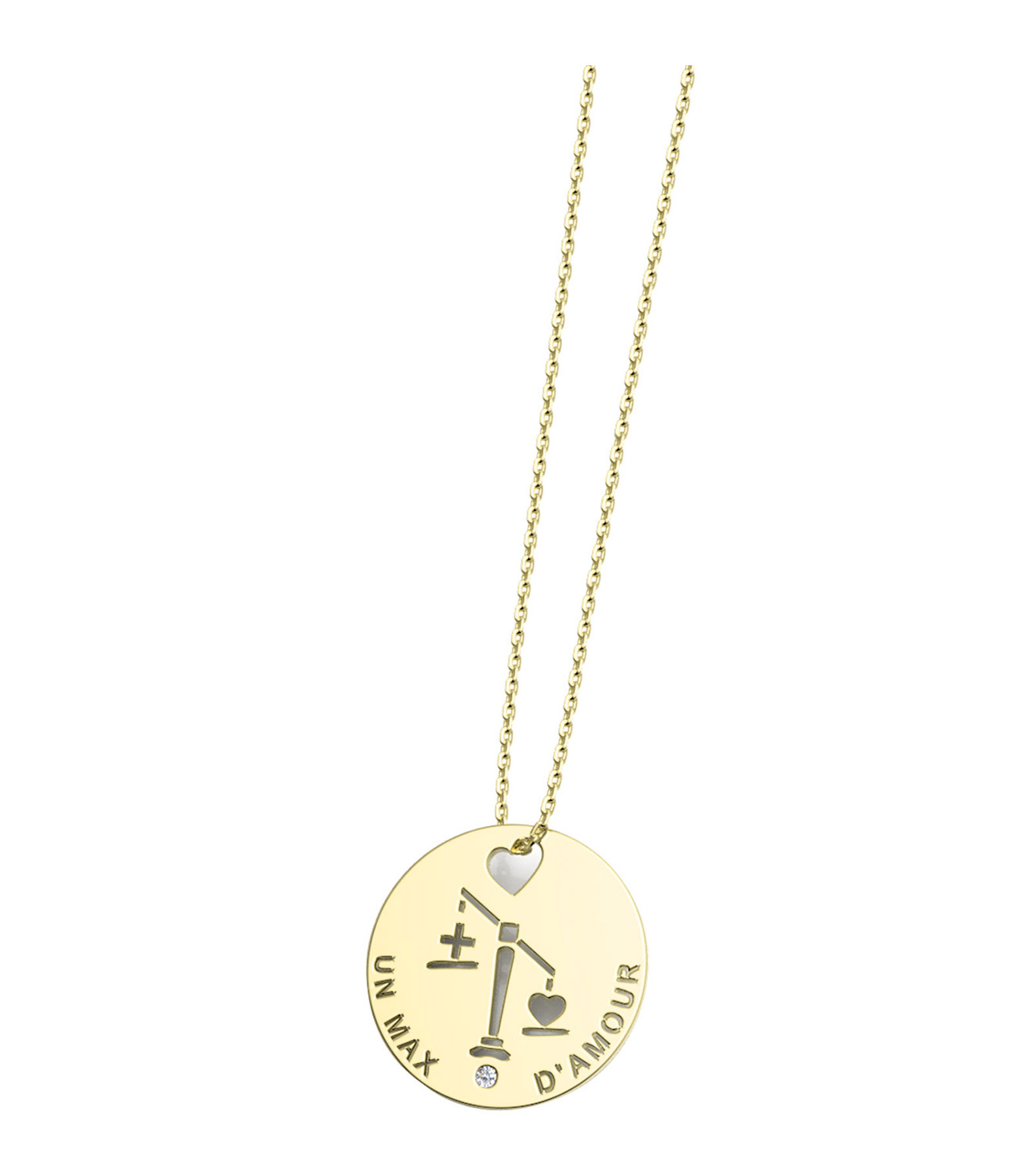 NAVA JOAILLERIE - Collier Horosco-Rock Balance Diamants Or