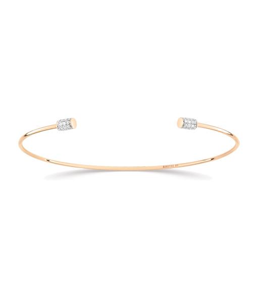 Jonc Single Diamond Choker - GINETTE_NY