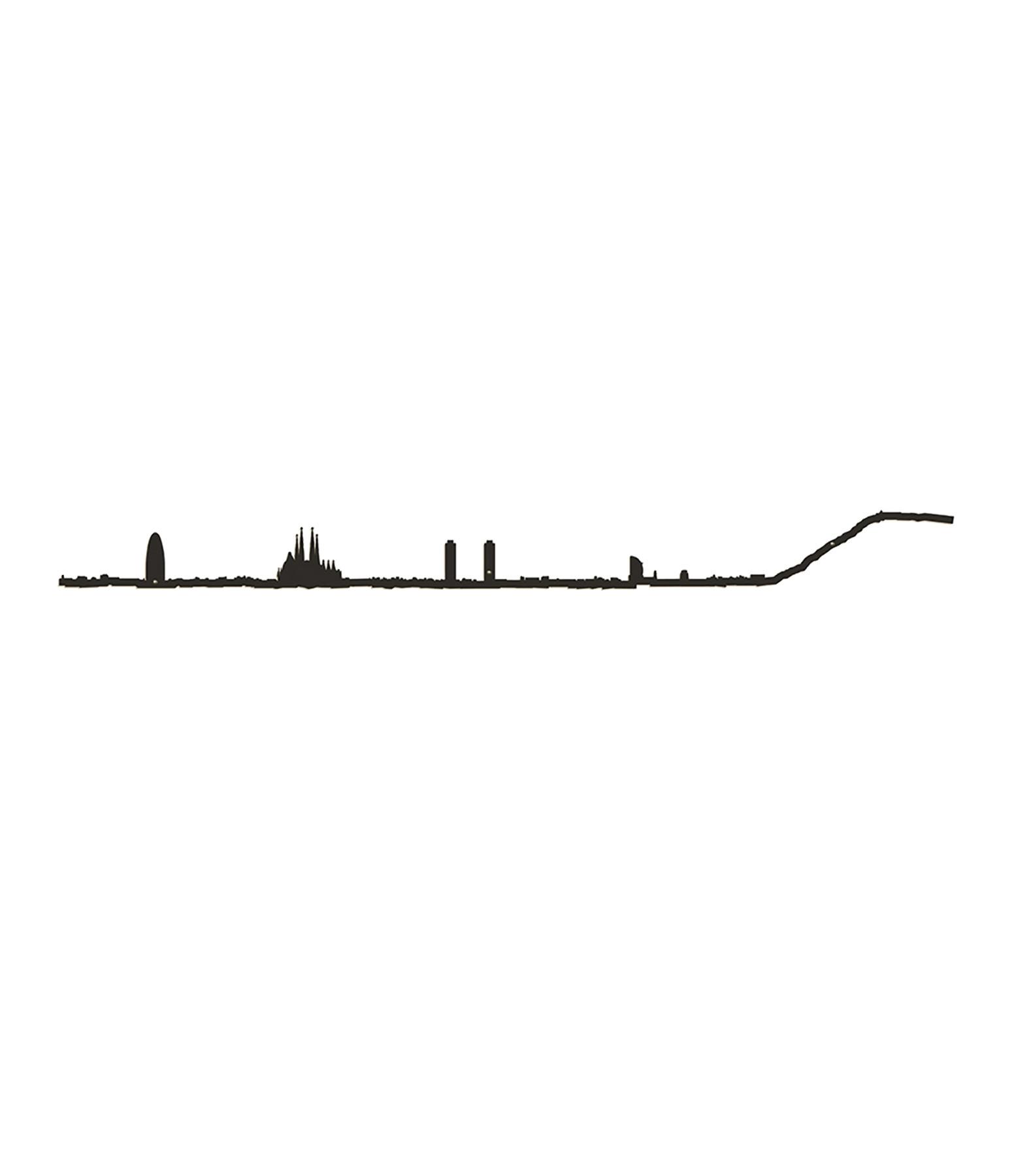 THE LINE - Sculpture Murale Métallique Barcelone Noir