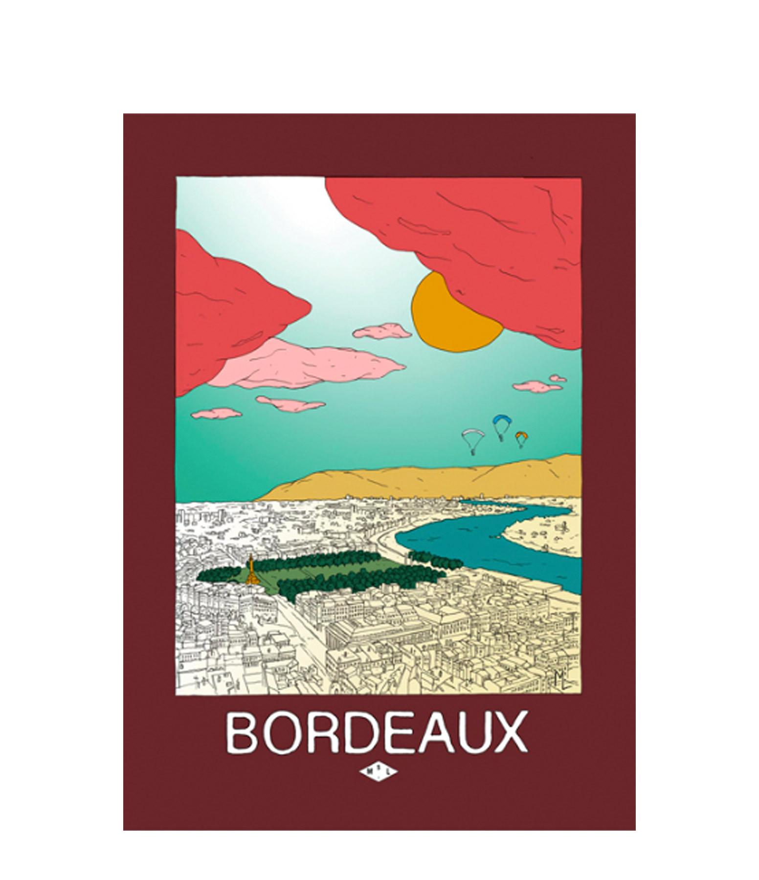 MAISON SARAH LAVOINE - Affiche Bordeaux 30x40cm