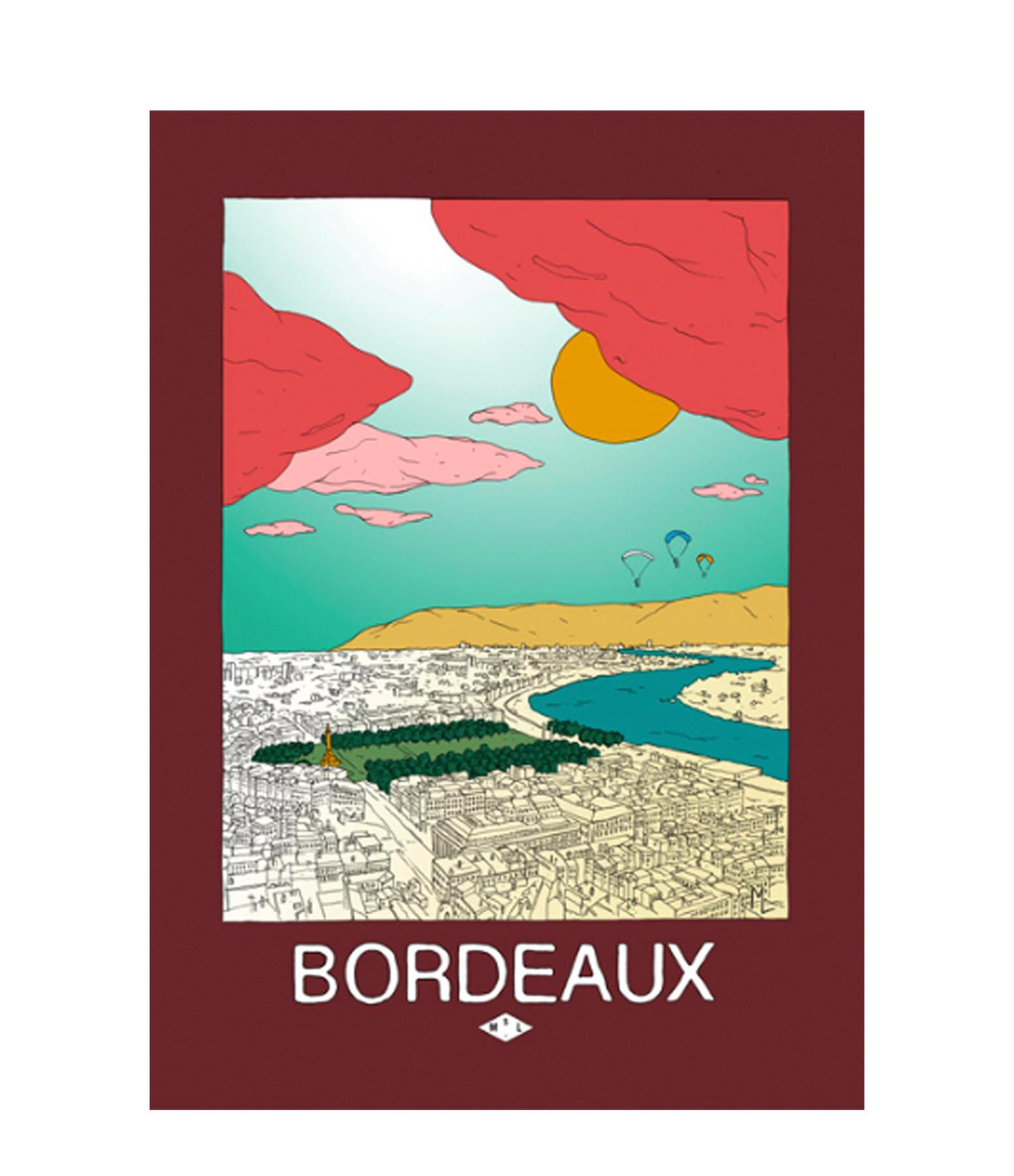 MAISON SARAH LAVOINE - Affiche Bordeaux 50x70cm