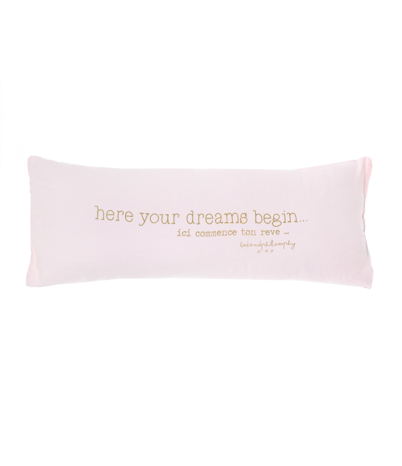 BED AND PHILOSOPHY - Coussin Smoothie Lin Shamalo Print Doré