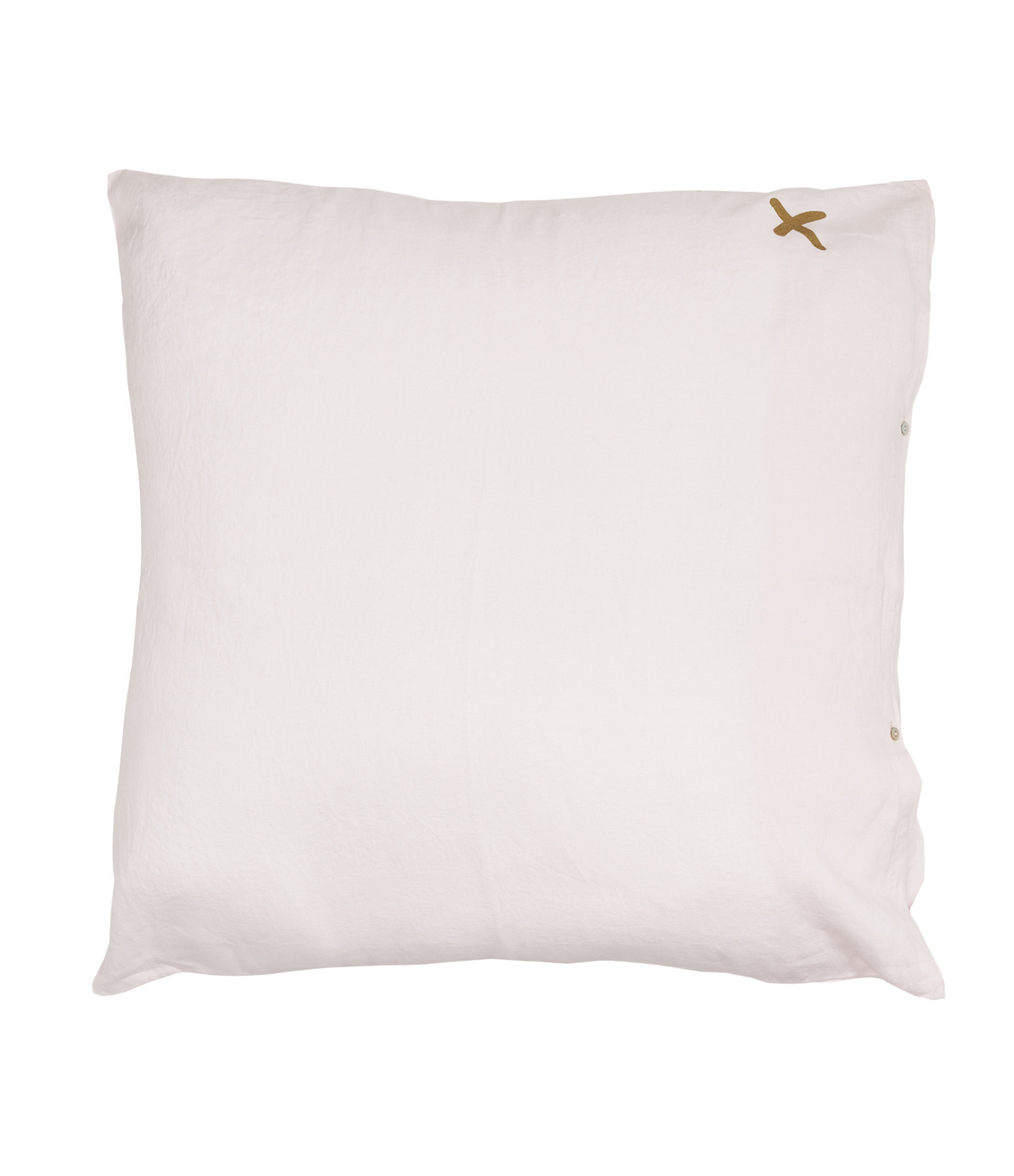 BED AND PHILOSOPHY - Grand Coussin Hug Lin Shamalo Print Croix Doré