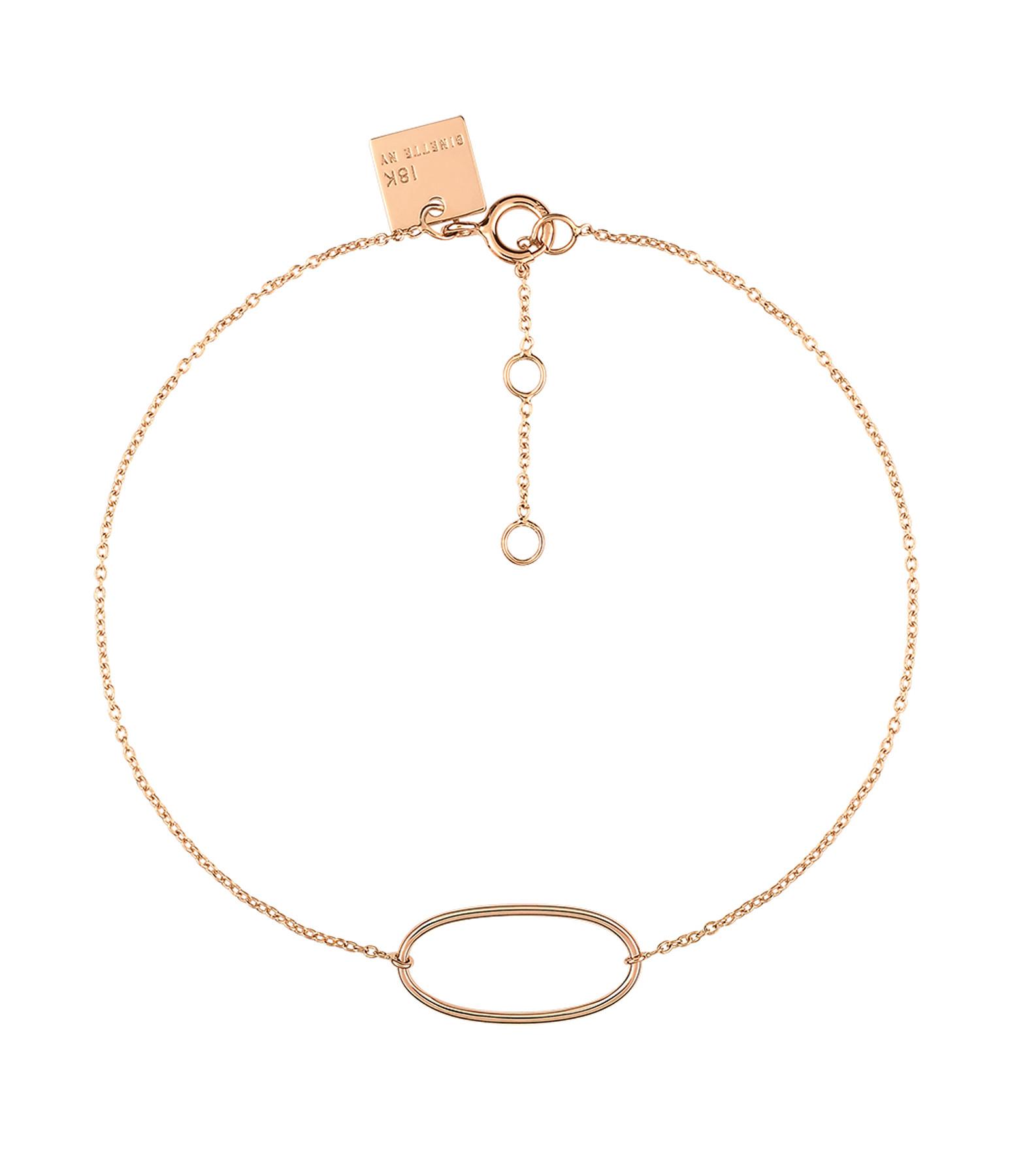GINETTE_NY - Bracelet Ellipses Or Rose