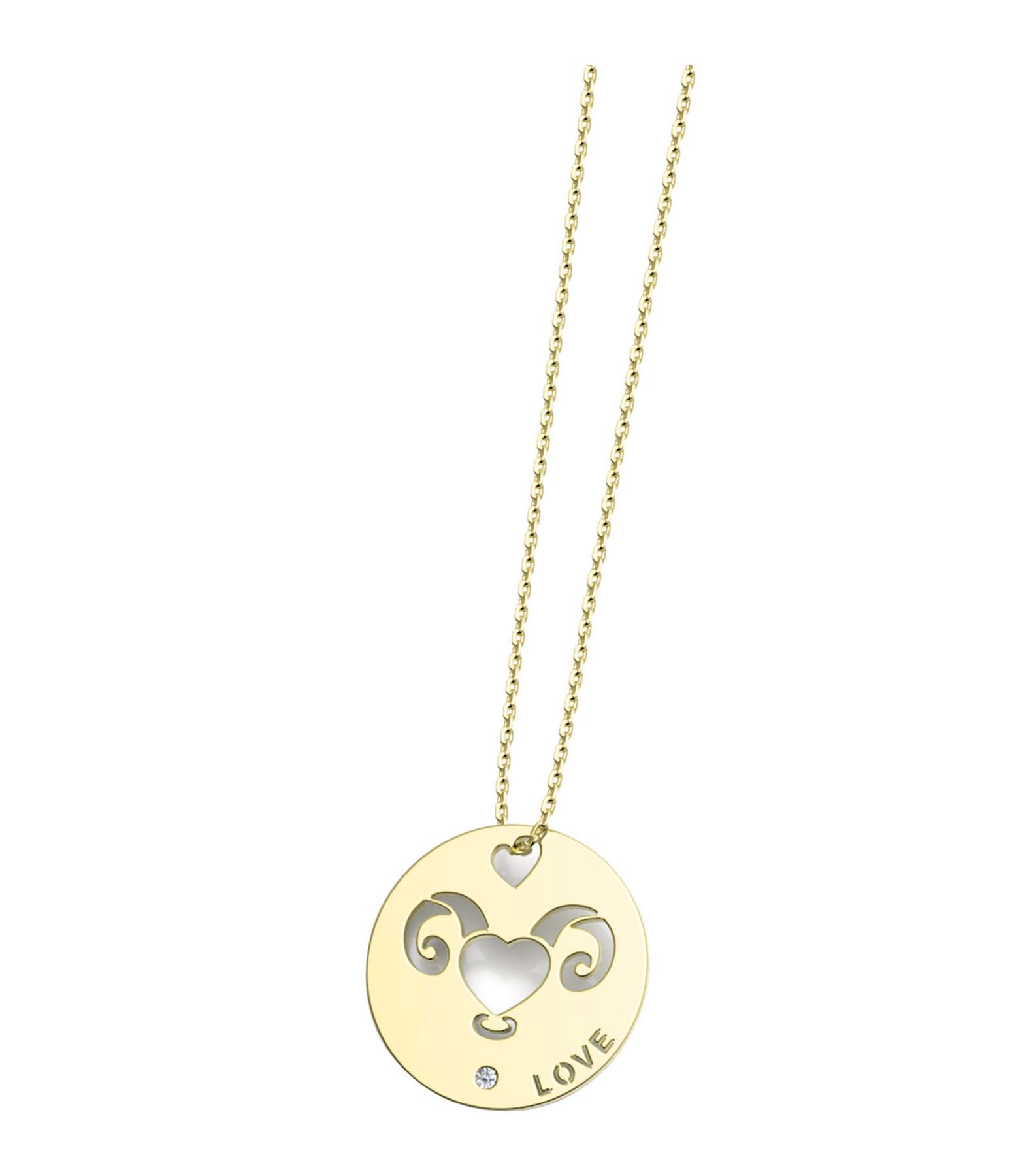NAVA JOAILLERIE - Collier Horosco-Rock Bélier Diamants Or