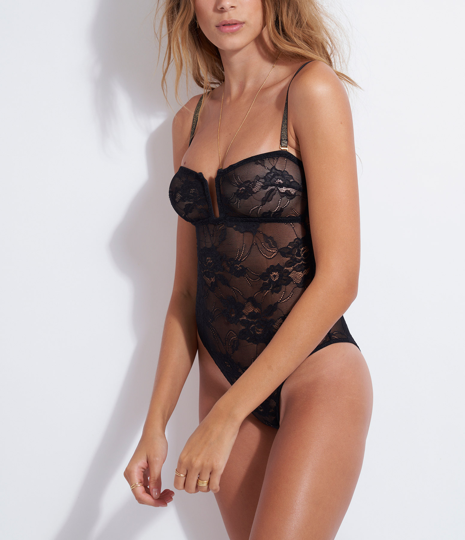 BELIZA - Body Louise Dentelle Lurex Noir