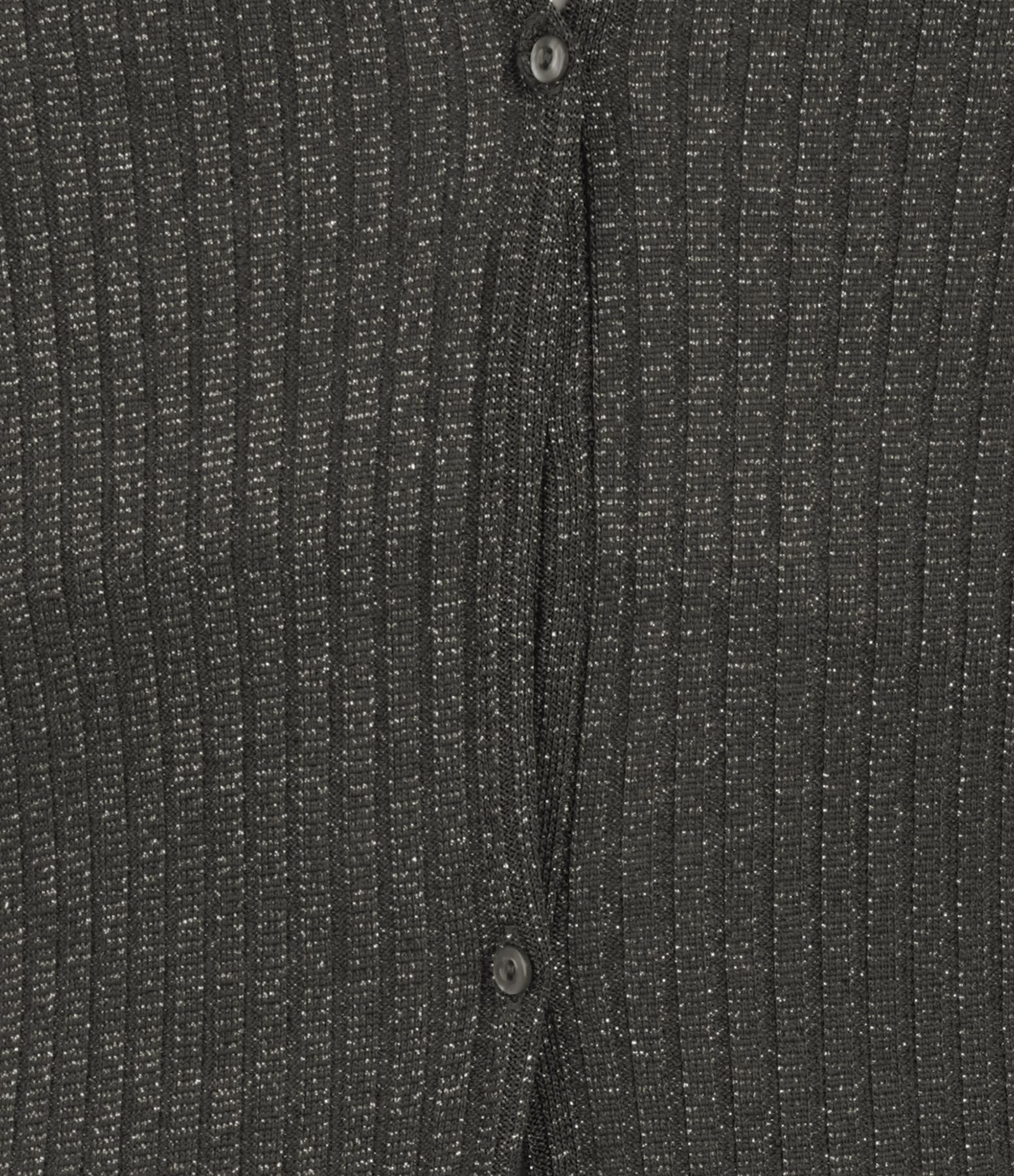 BELIZA - Robe Ima Maille Lurex Noir