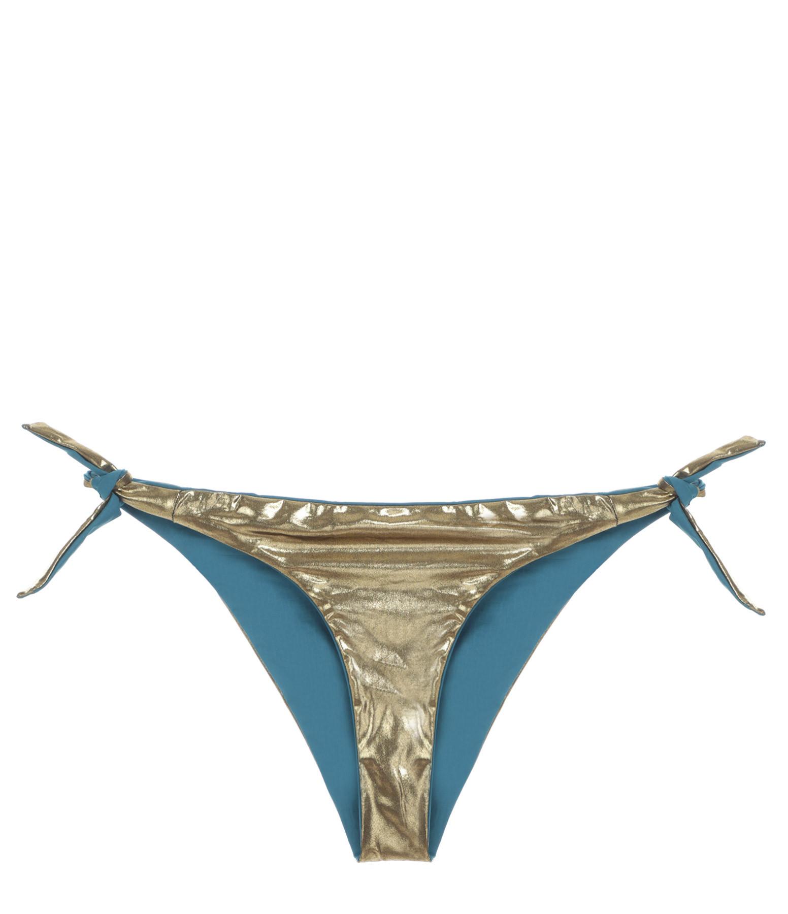BELIZA - Culotte de Bain Julie Réversible Bleu Tin
