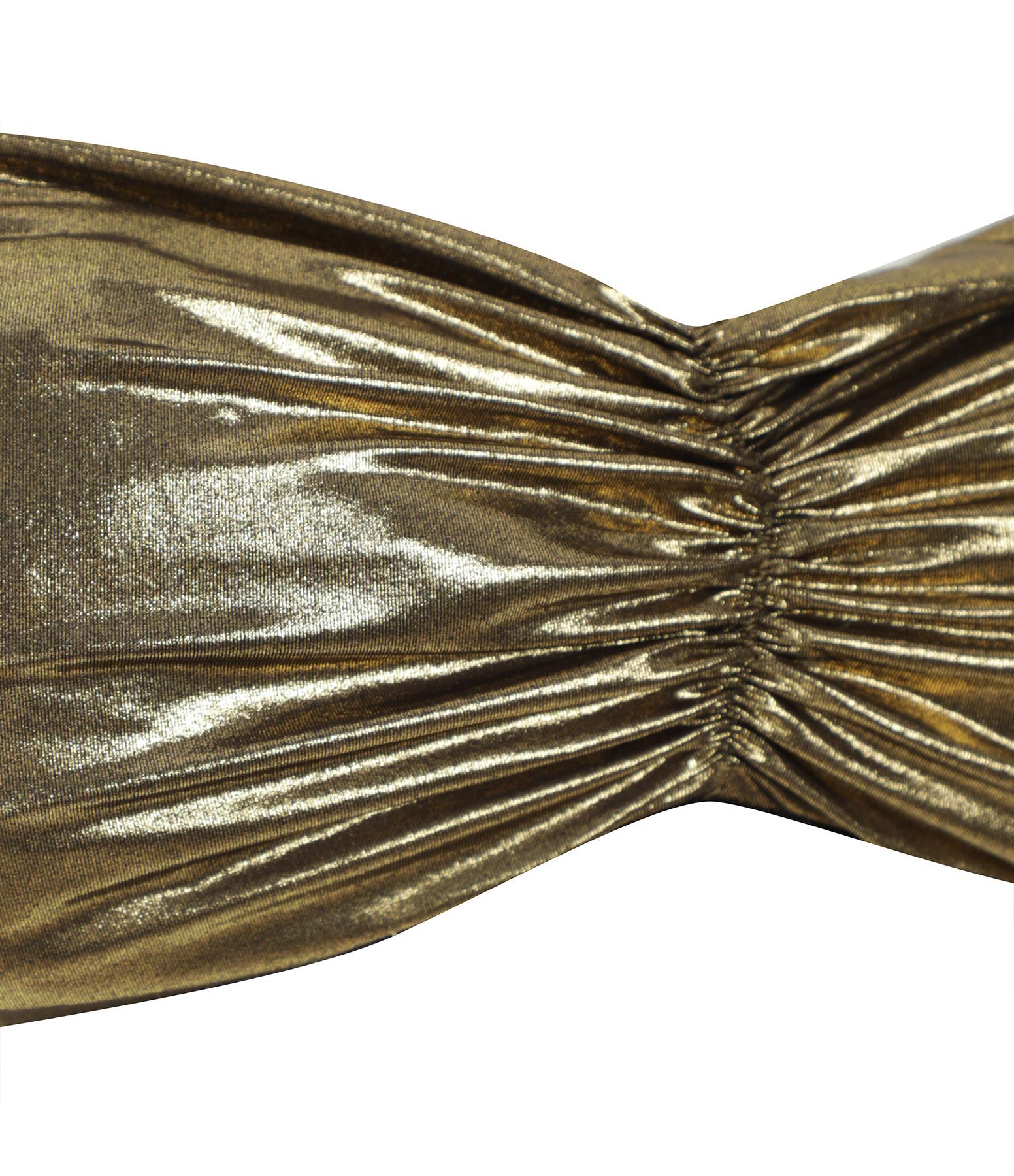 BELIZA - Haut de Maillot de Bain Julie Lurex Navy Tin