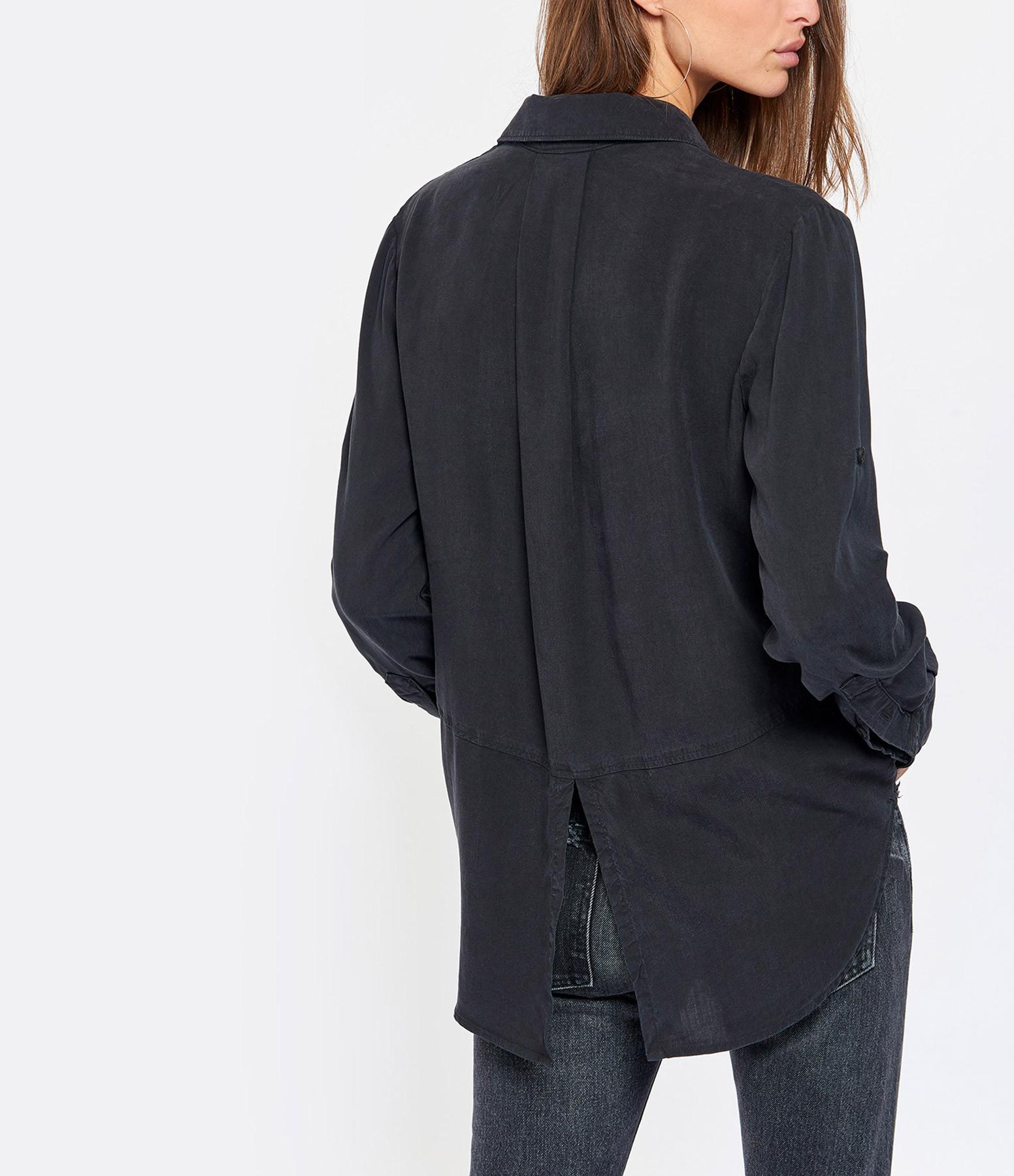 BELLA DAHL - Chemise Split Back Button Noir Vintage