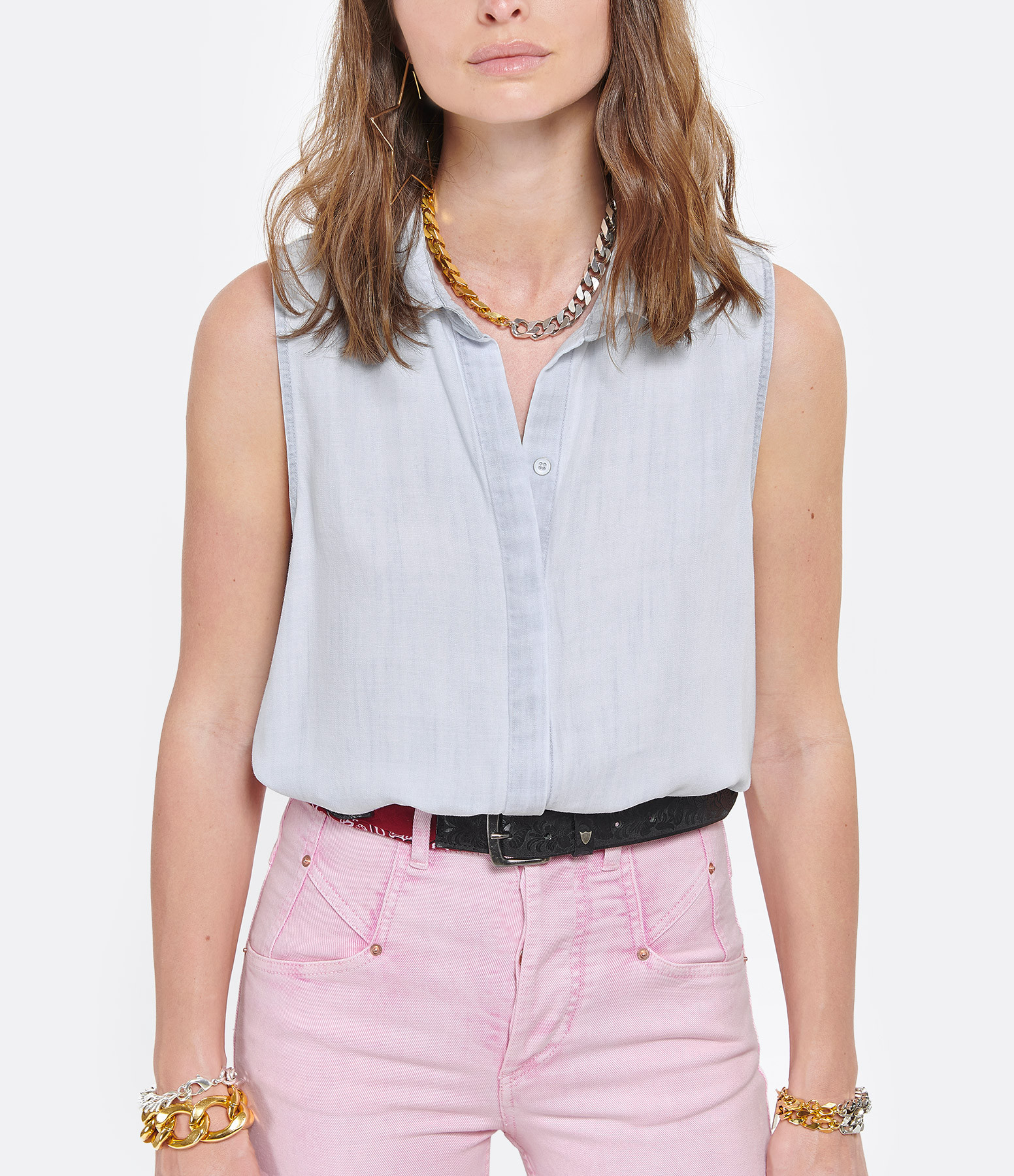 BELLA DAHL - Chemise Button Down Shirt Desert Sky Wash