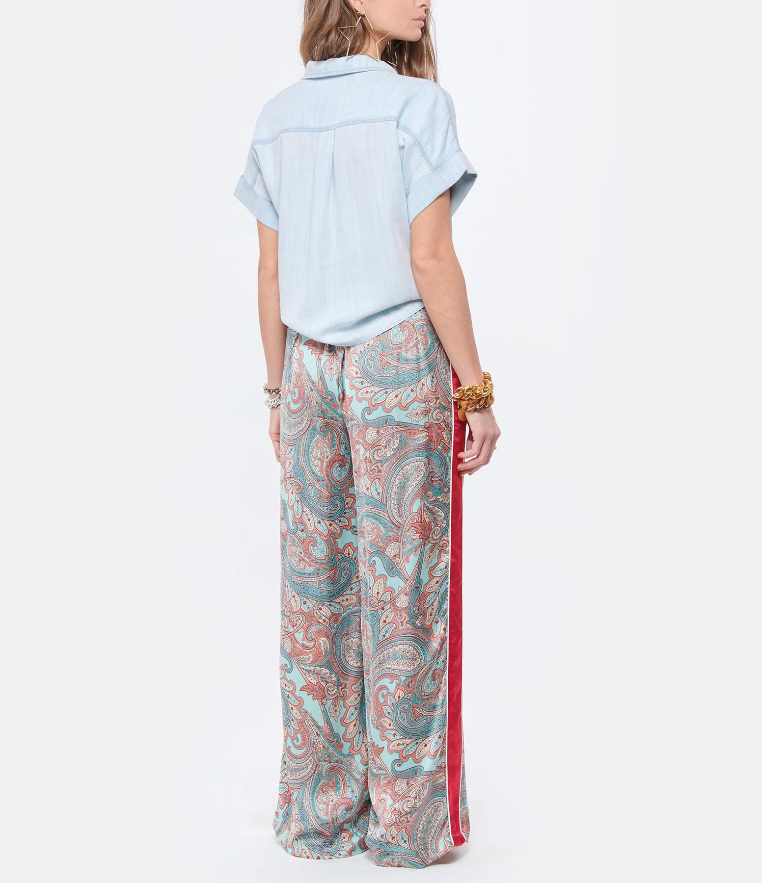 BELLA DAHL - Chemise Capsleeve Tie Front Shirt Desert Sky