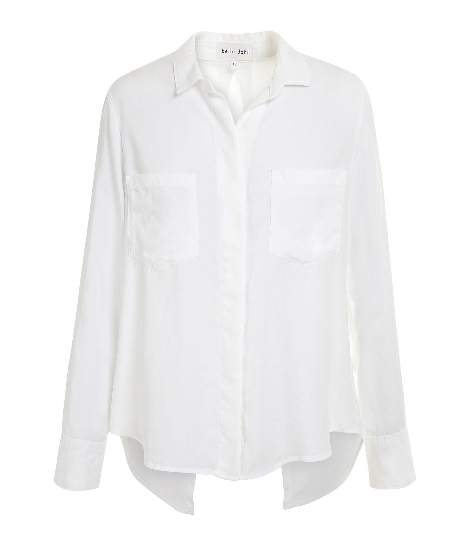 BELLA DAHL - Chemise Split Back Button Down Blanc