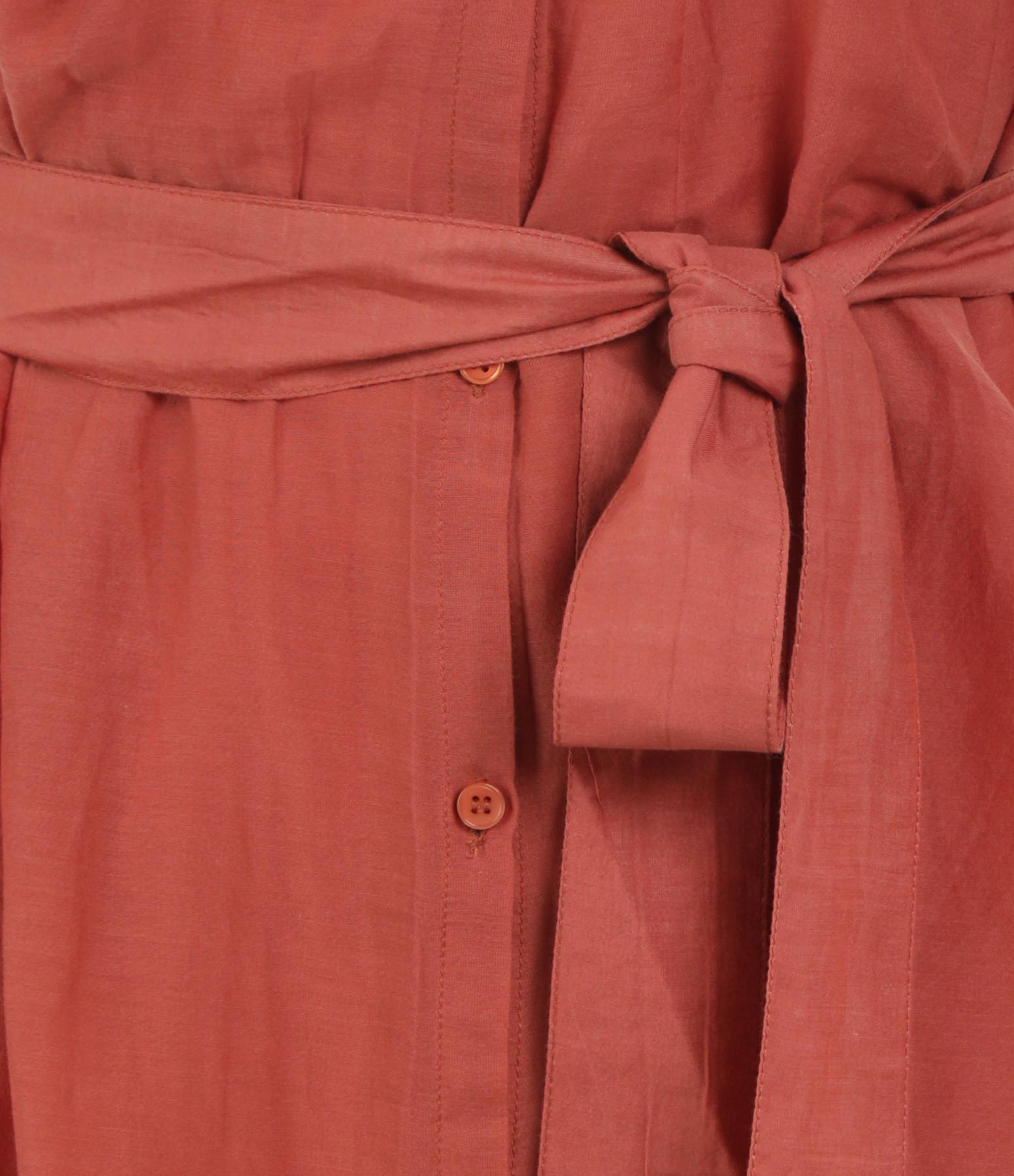 BELLE PIÈCE - Robe Richard Soie Coton Brique