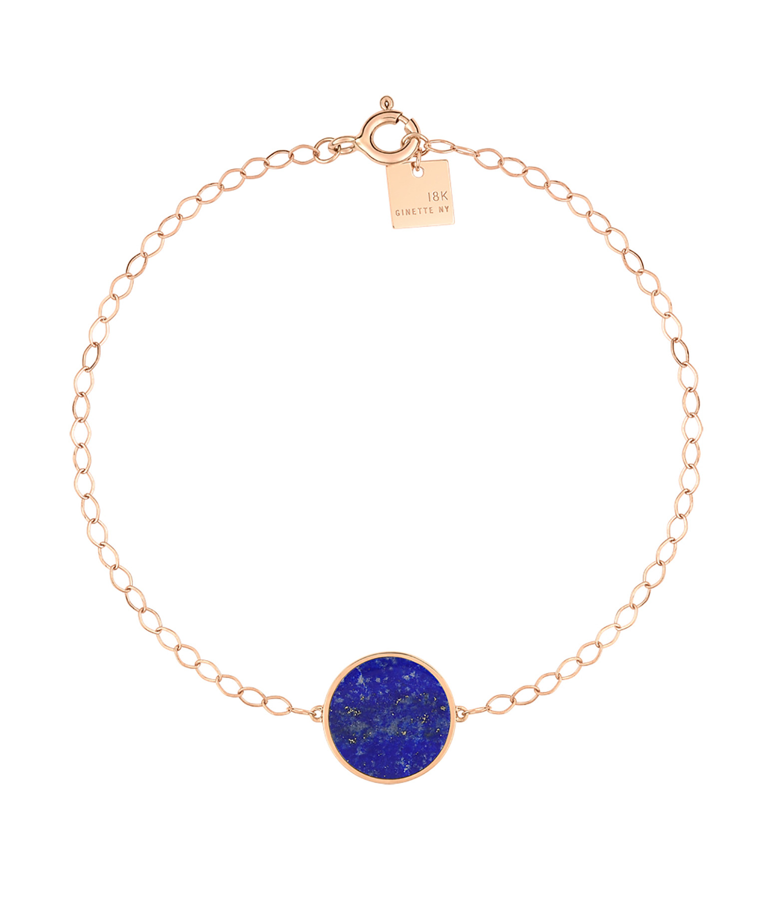 GINETTE NY - Bracelet Ever Disc Or Rose Lapis Lazuli