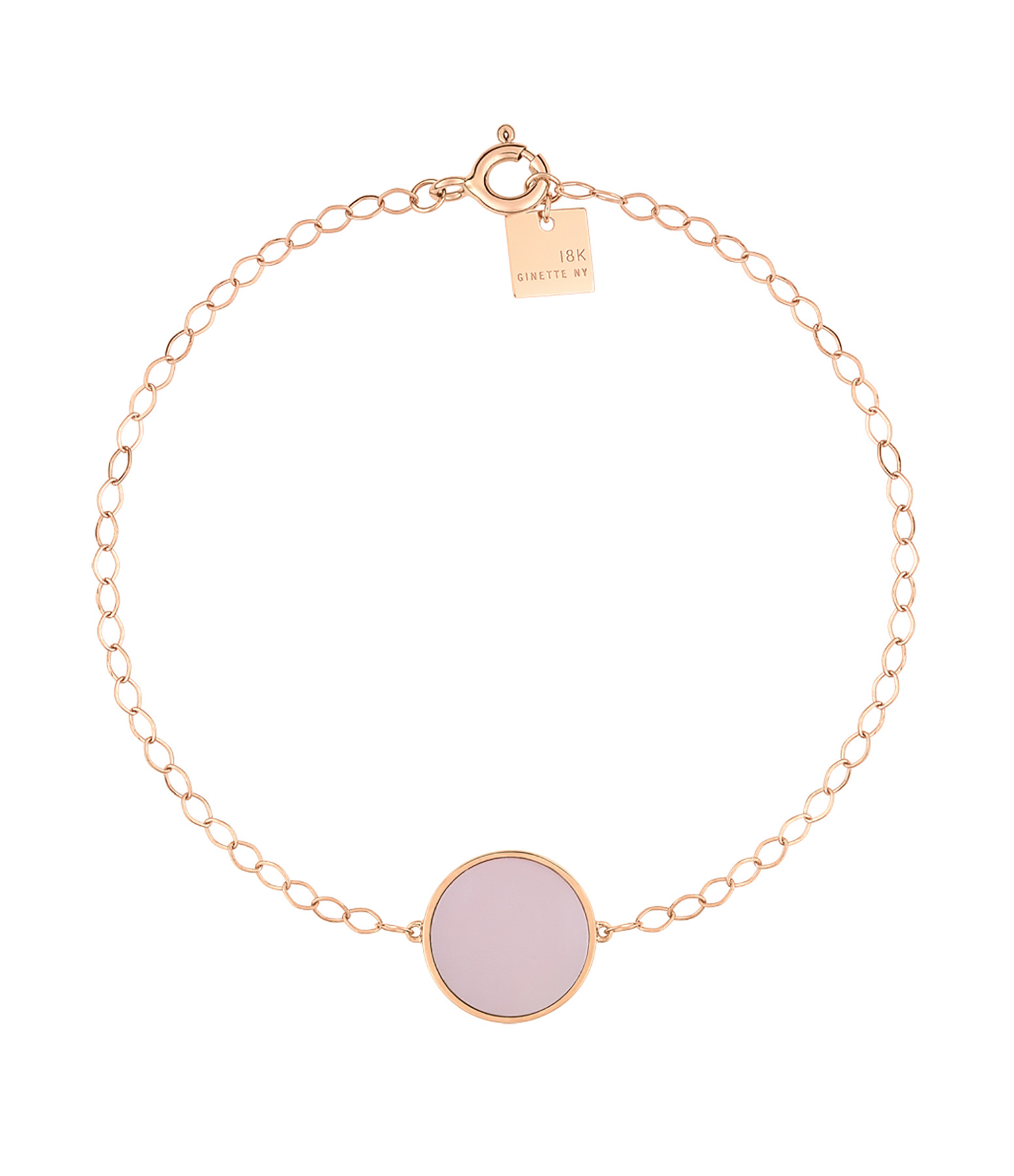 GINETTE NY - Bracelet Ever Disc Or Rose Nacre Rose