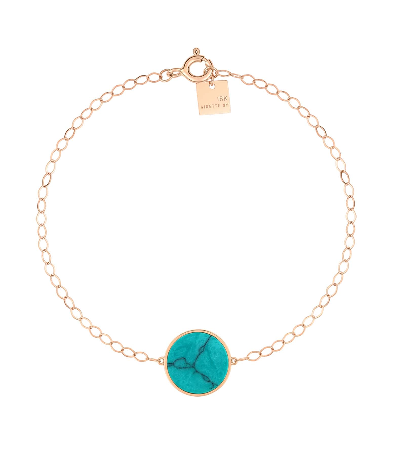 GINETTE NY - Bracelet Ever Disc Or Rose Turquoise
