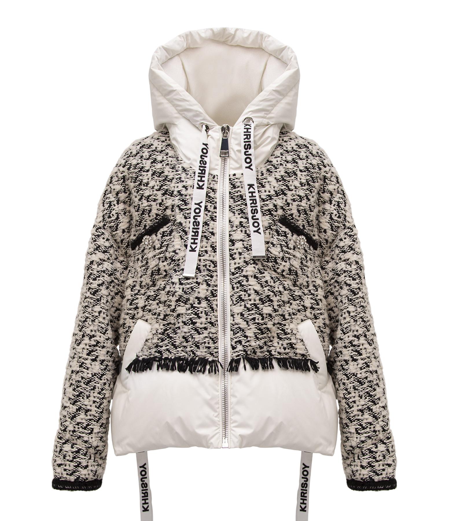 KHRISJOY - Veste Doudoune Khris Tweed Noir Blanc