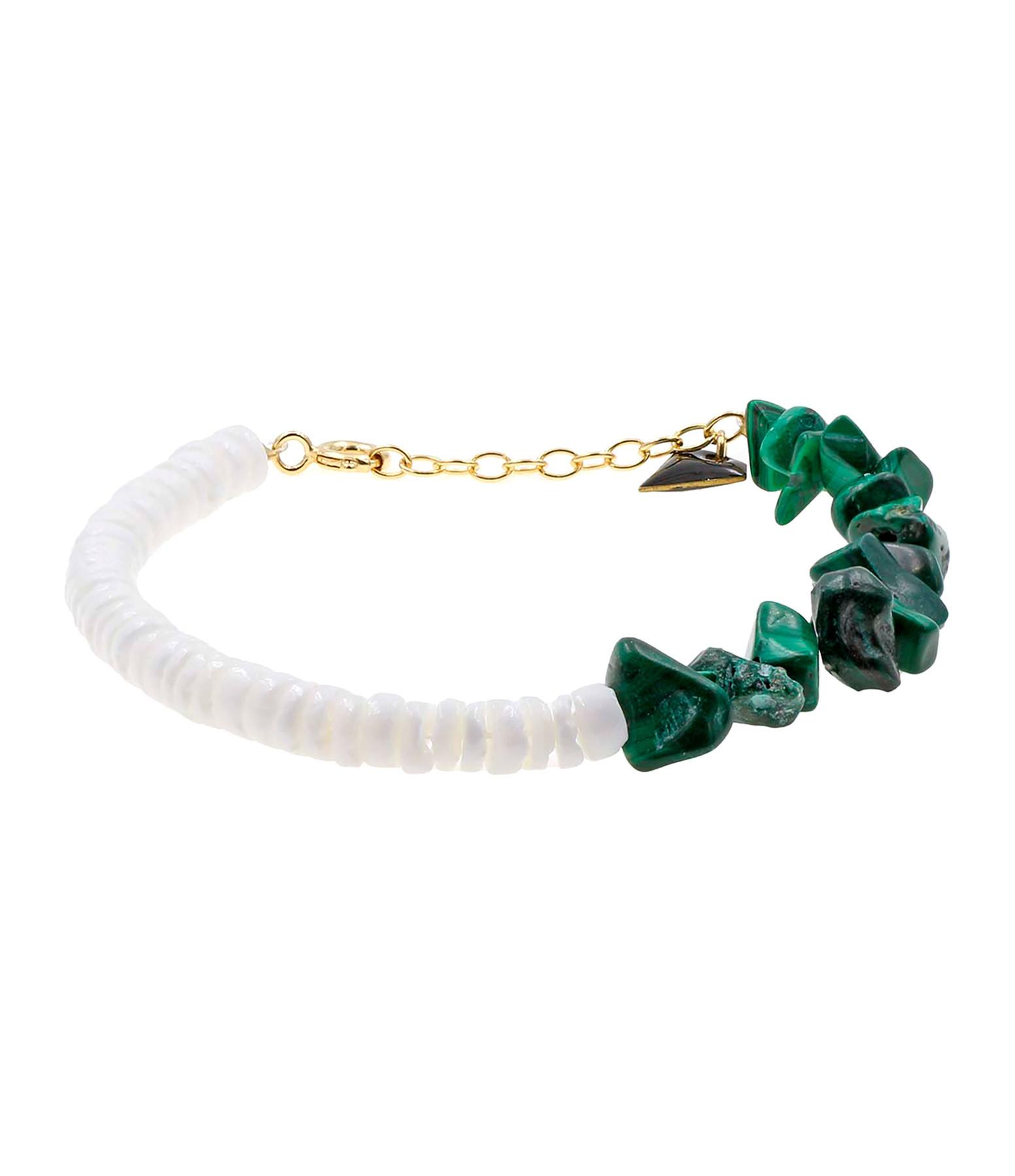 MON PRECIEUX GEM - Bracelet Bigoût Coquillage Malachite