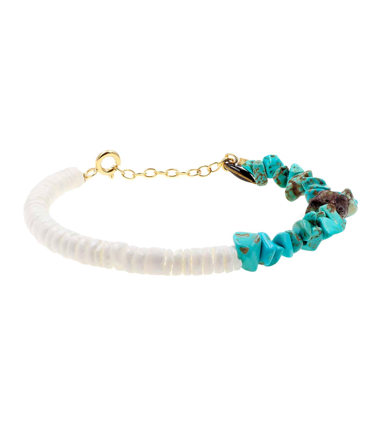 MON PRECIEUX GEM - Bracelet Bigoût Coquillage Turquoise