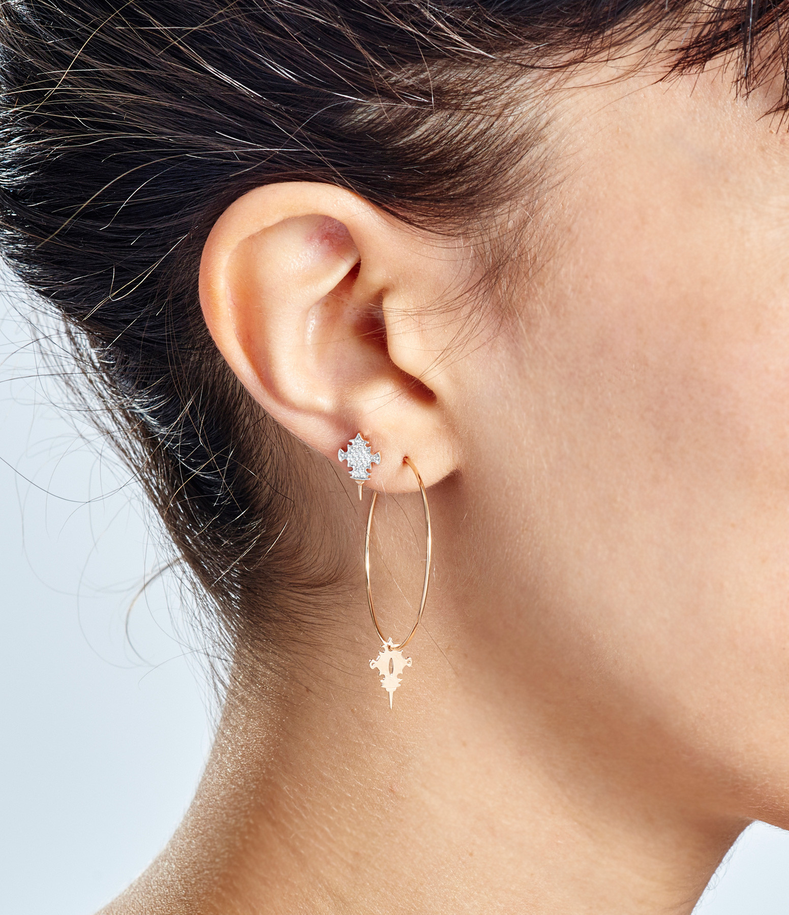 Boucles d'oreilles Tanger Hoops - GINETTE NY