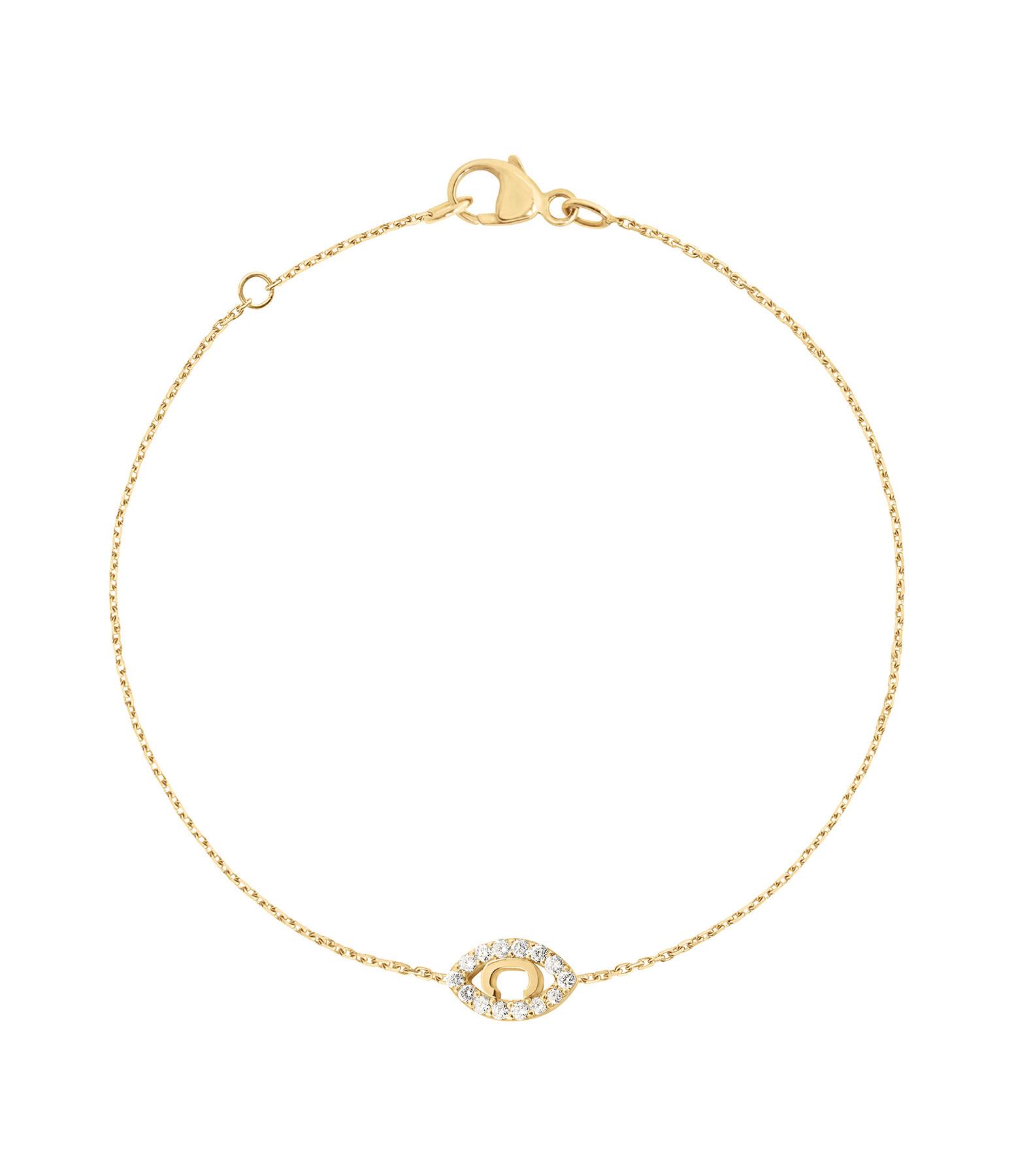 CHARLET - Bracelet Iris Diamants Or Jaune