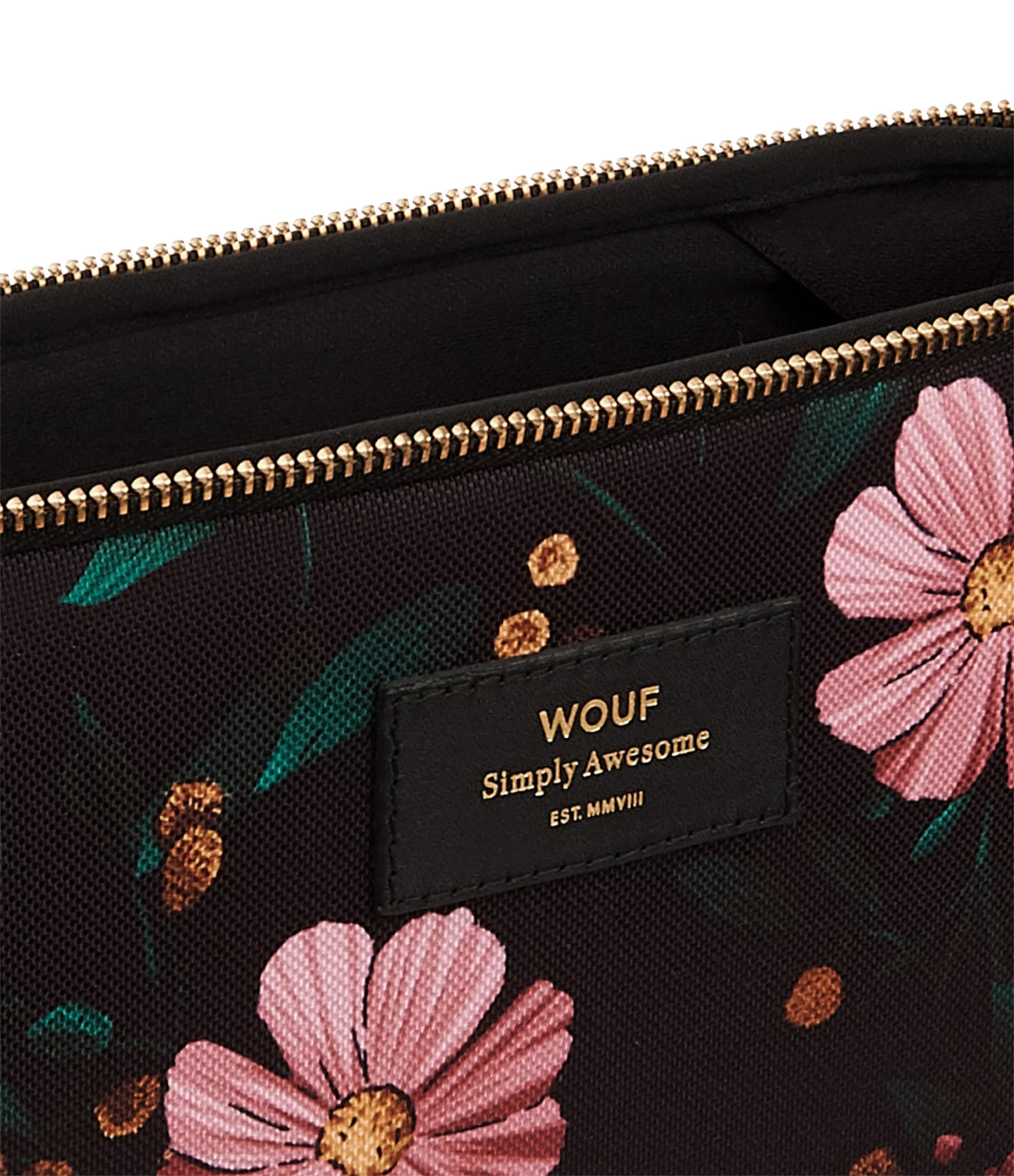 WOUF - Housse 15'' Black Flowers