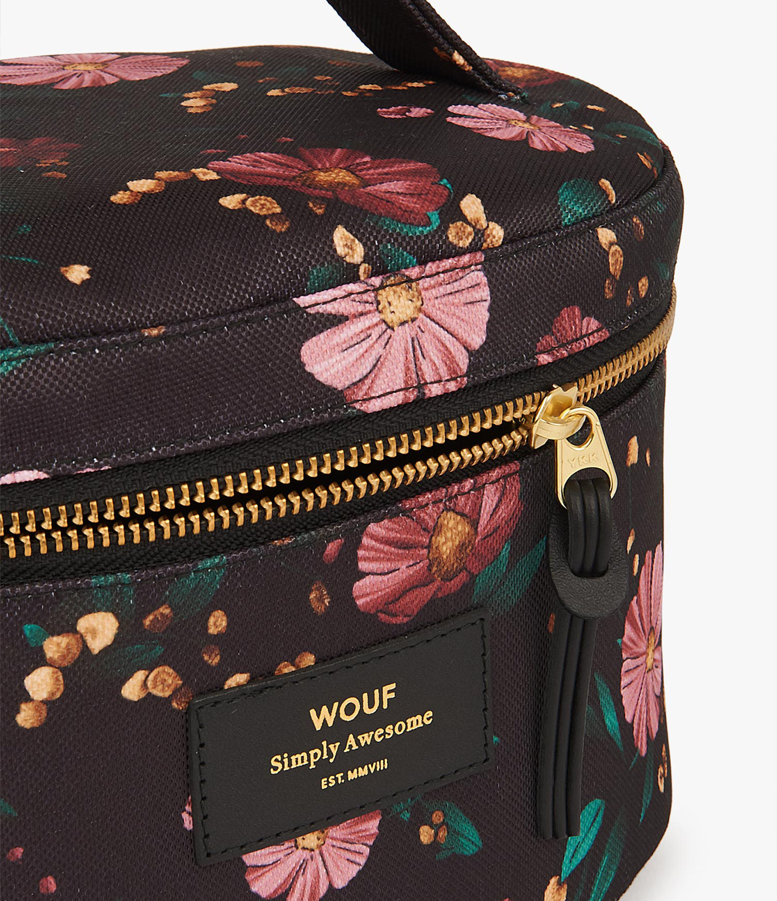 WOUF - Trousse XL Beauty Black Flowers