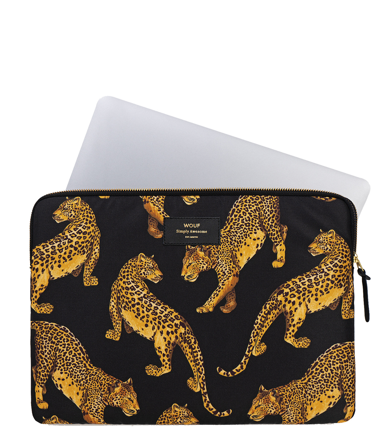 WOUF - Housse 13' Black Leopard