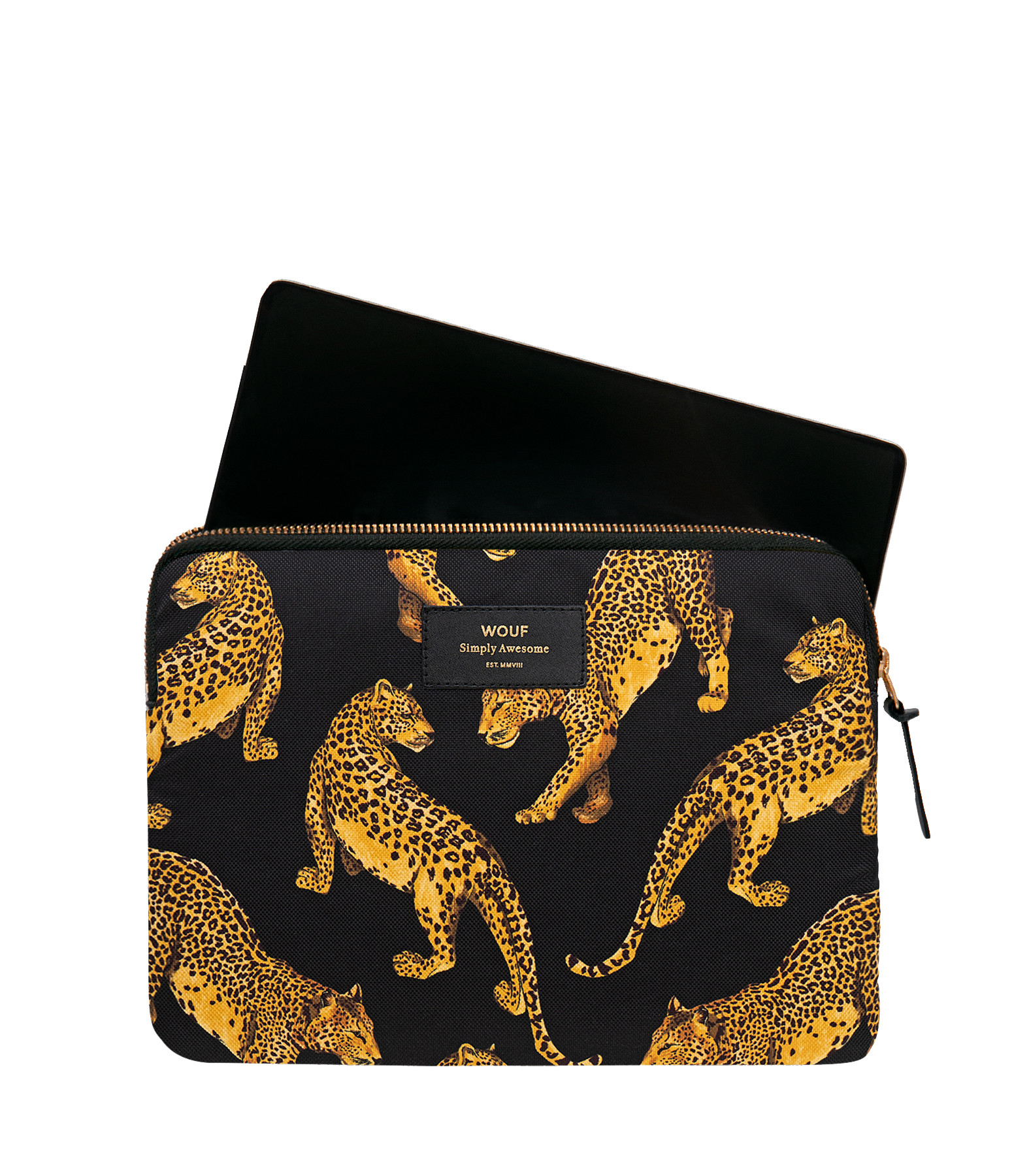 WOUF - Housse Ipad Black Leopard